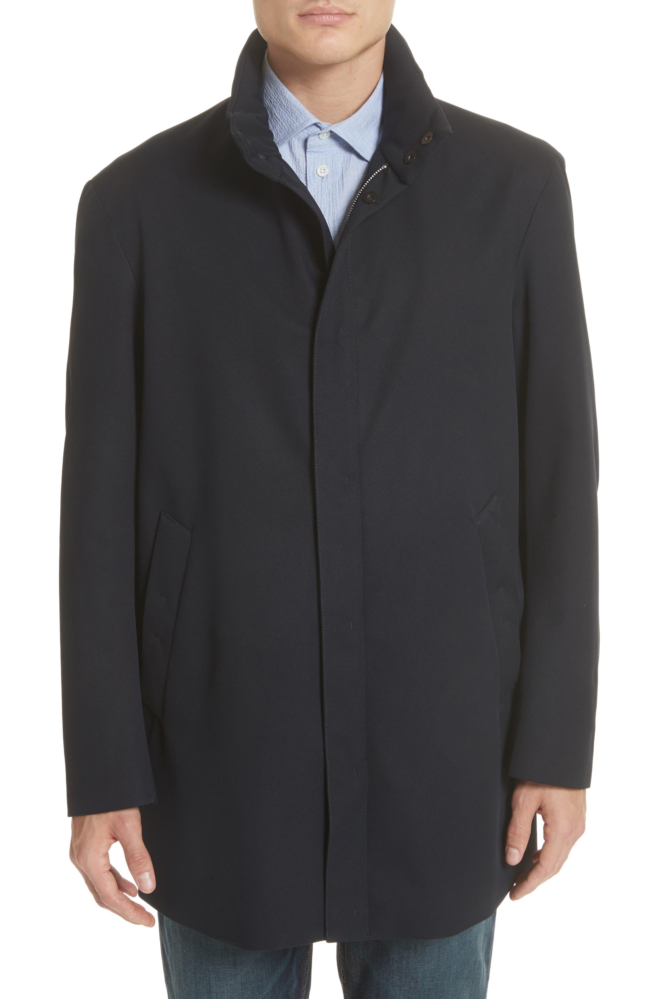 Navy Topcoat,                         Main,                         color, Navy