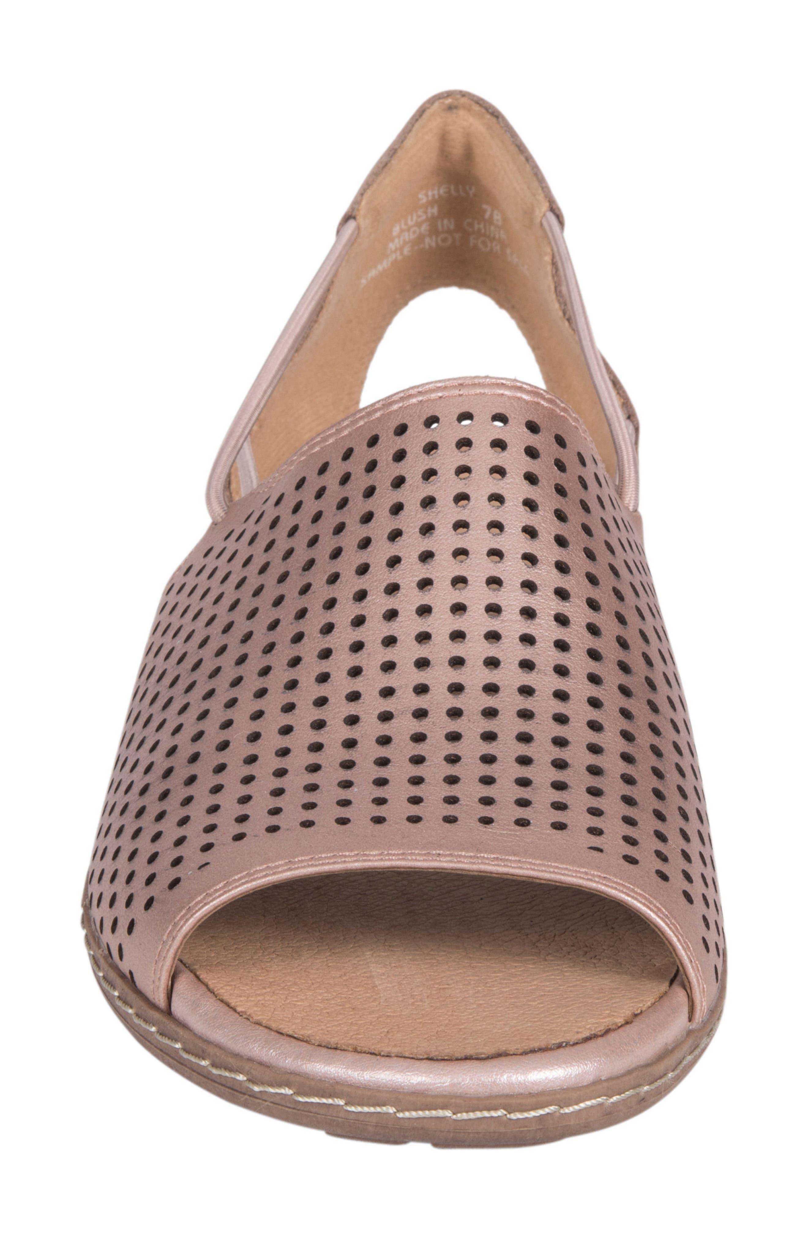 Shelly Sandal,                             Alternate thumbnail 4, color,                             Blush Metallic Leather