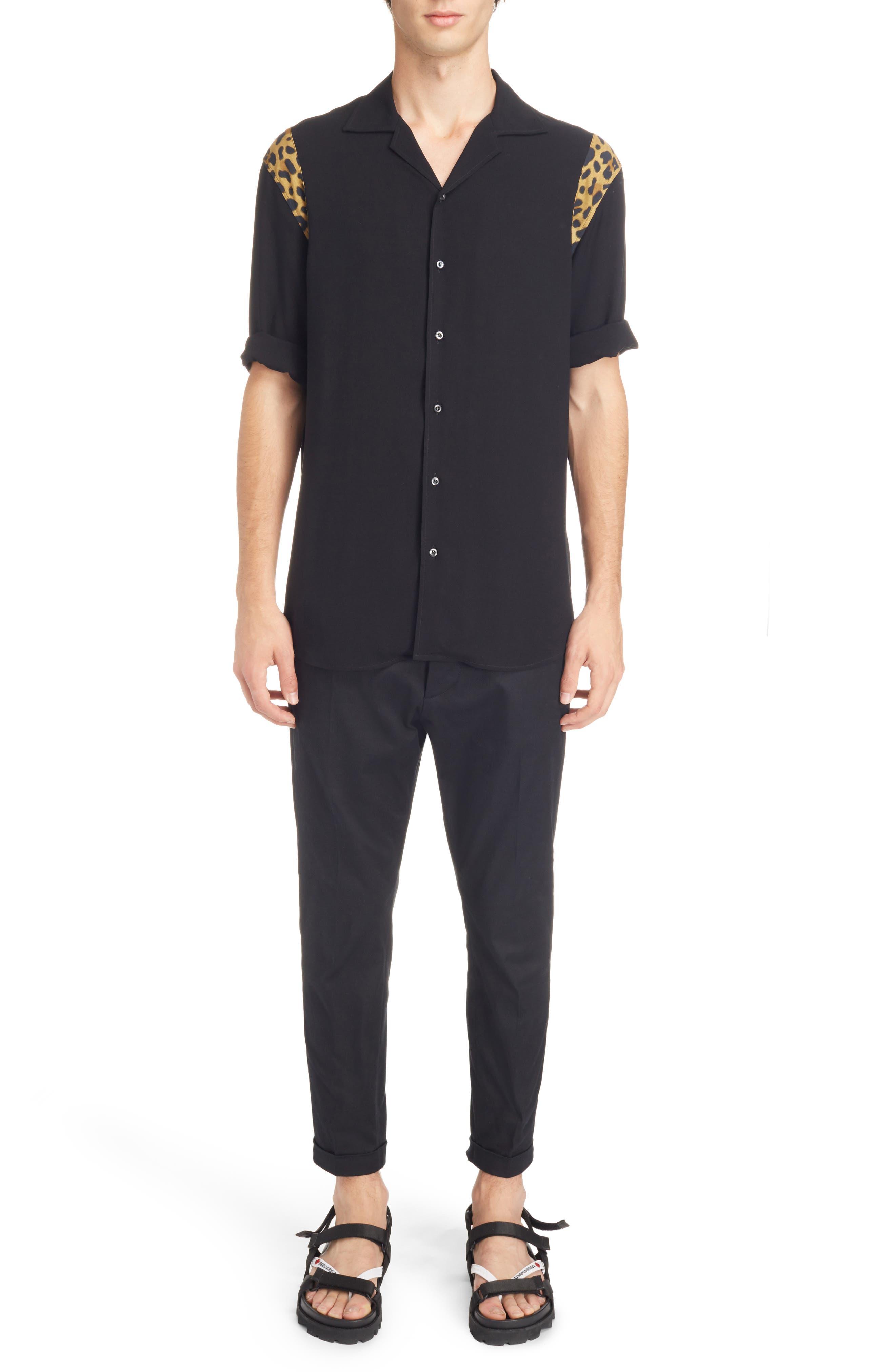 Bowling Shirt,                             Alternate thumbnail 7, color,                             Black