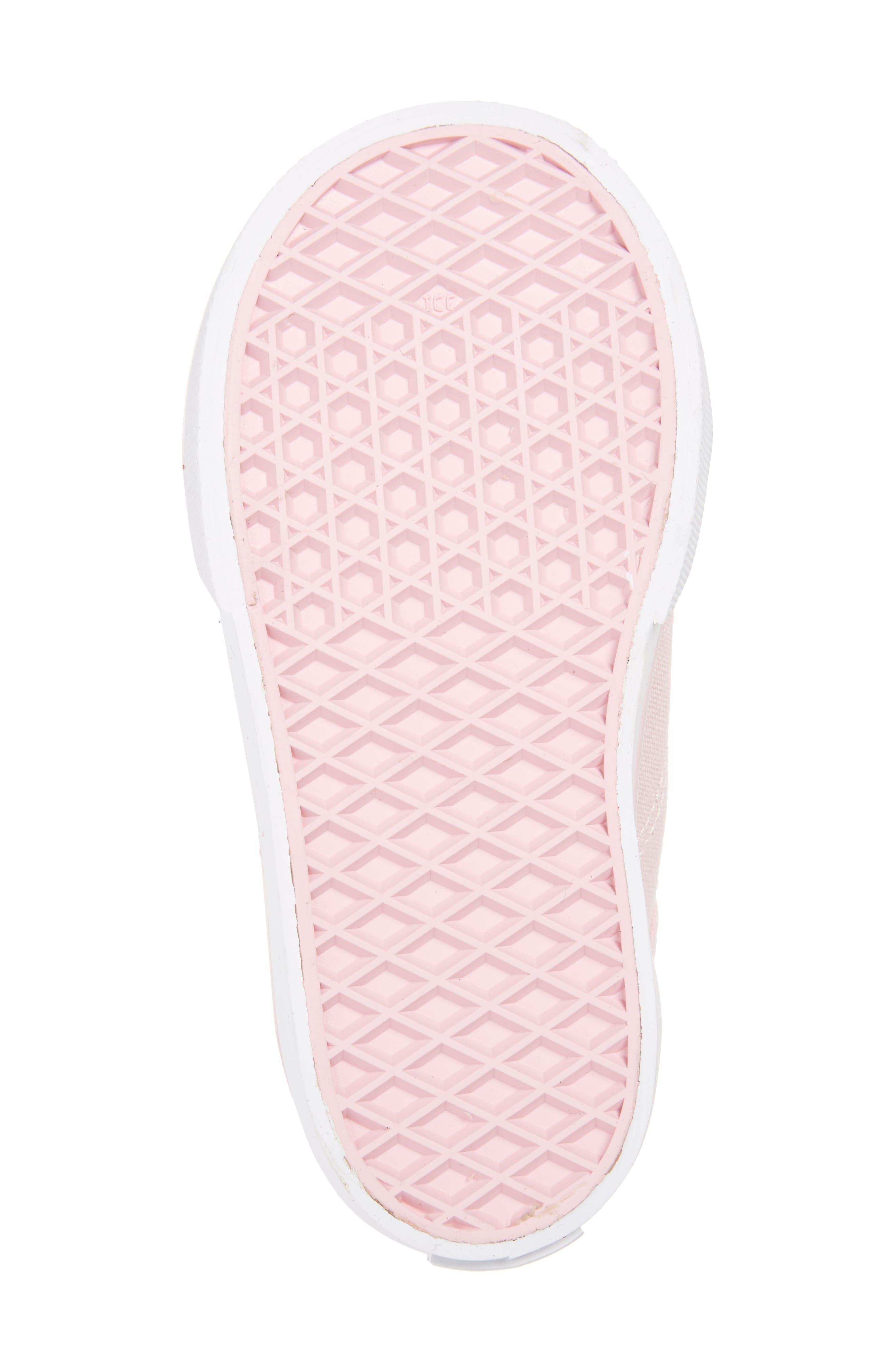 Glitter Toe Style 23 V Sneaker,                             Alternate thumbnail 6, color,                             Glitter Chalk Pink/ True White