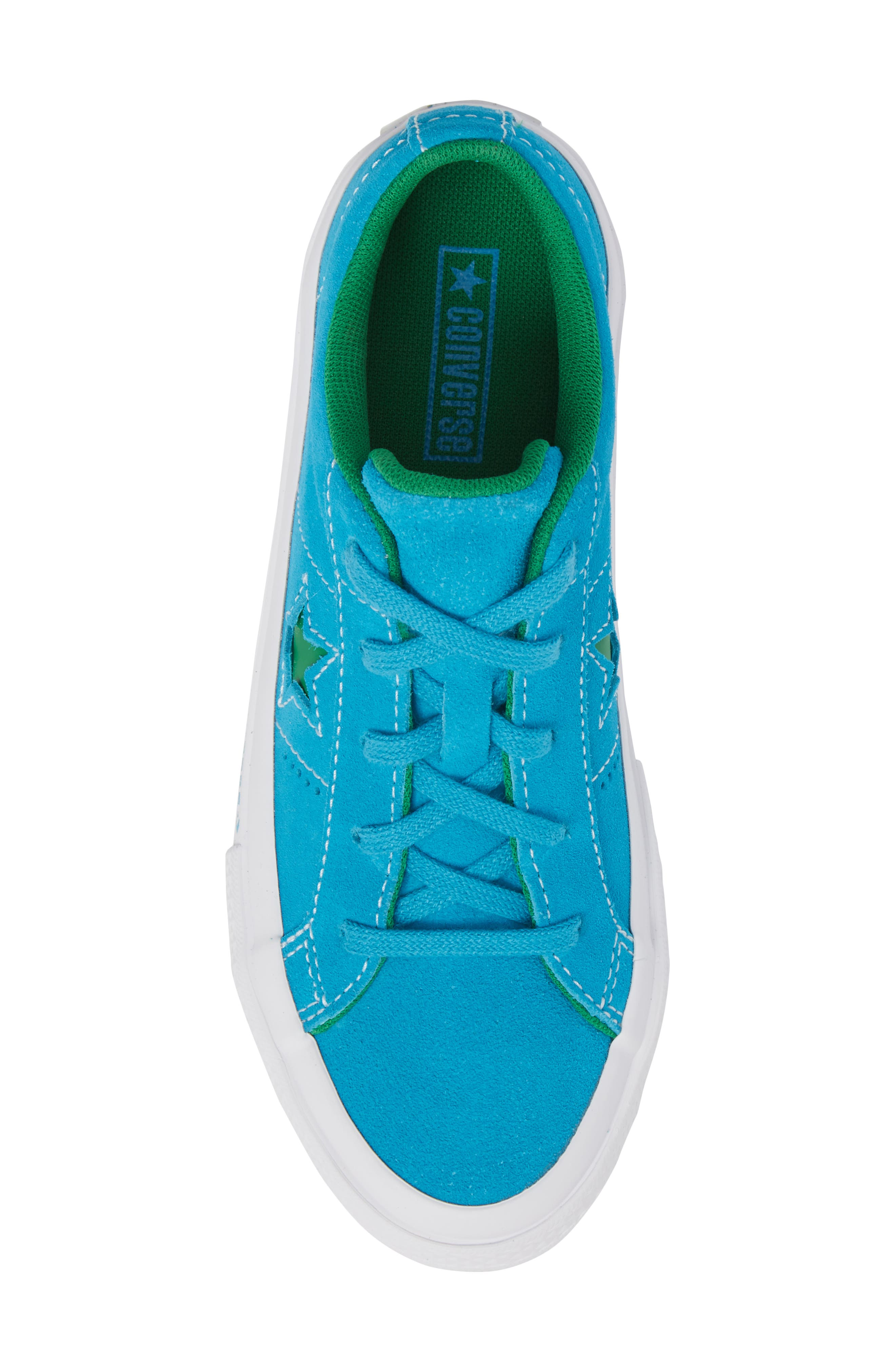 Chuck Taylor<sup>®</sup> All Star<sup>®</sup> One Star Leather Platform Sneaker,                             Alternate thumbnail 5, color,                             Hawaiian Ocean