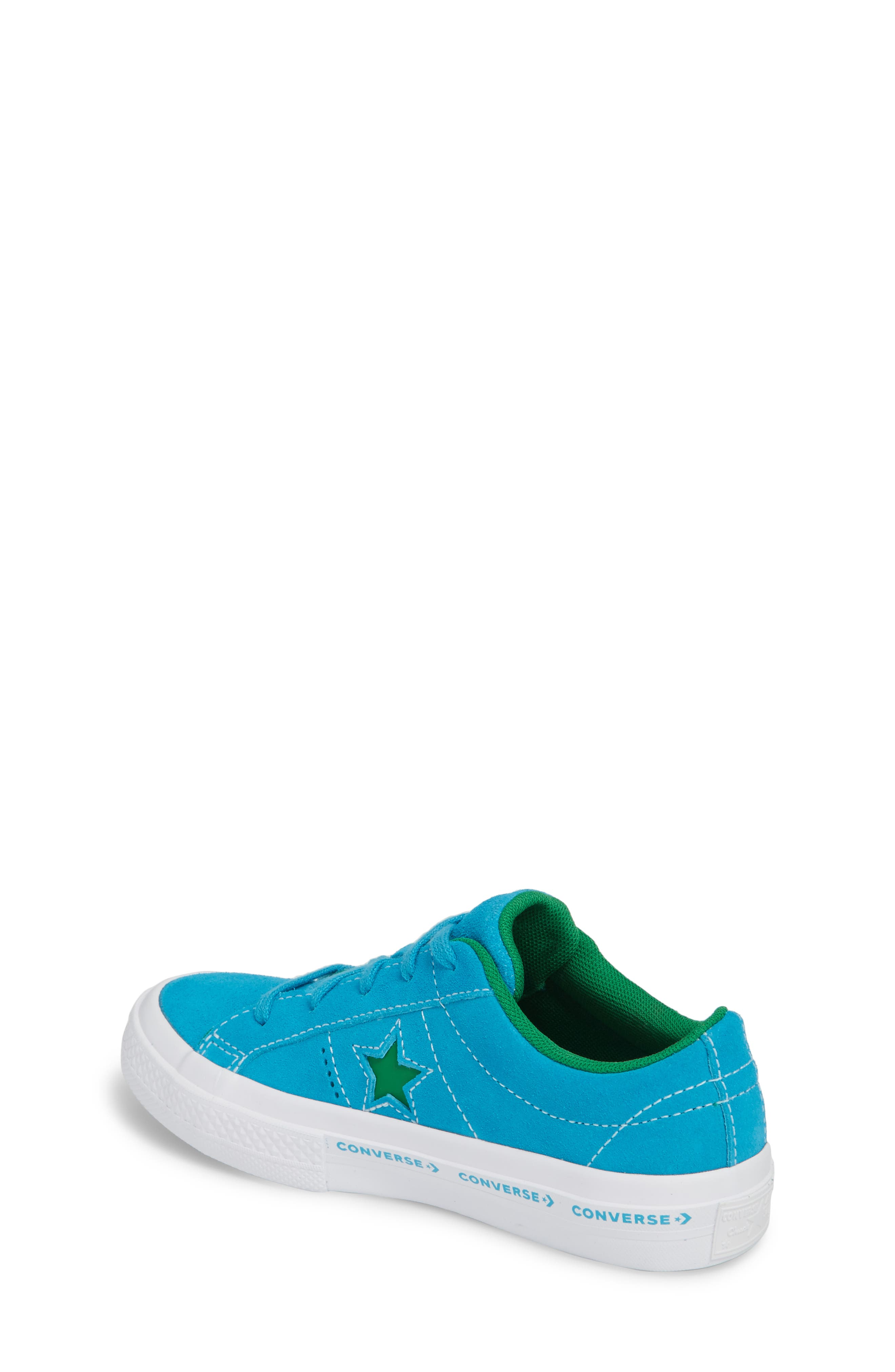 Chuck Taylor<sup>®</sup> All Star<sup>®</sup> One Star Leather Platform Sneaker,                             Alternate thumbnail 2, color,                             Hawaiian Ocean