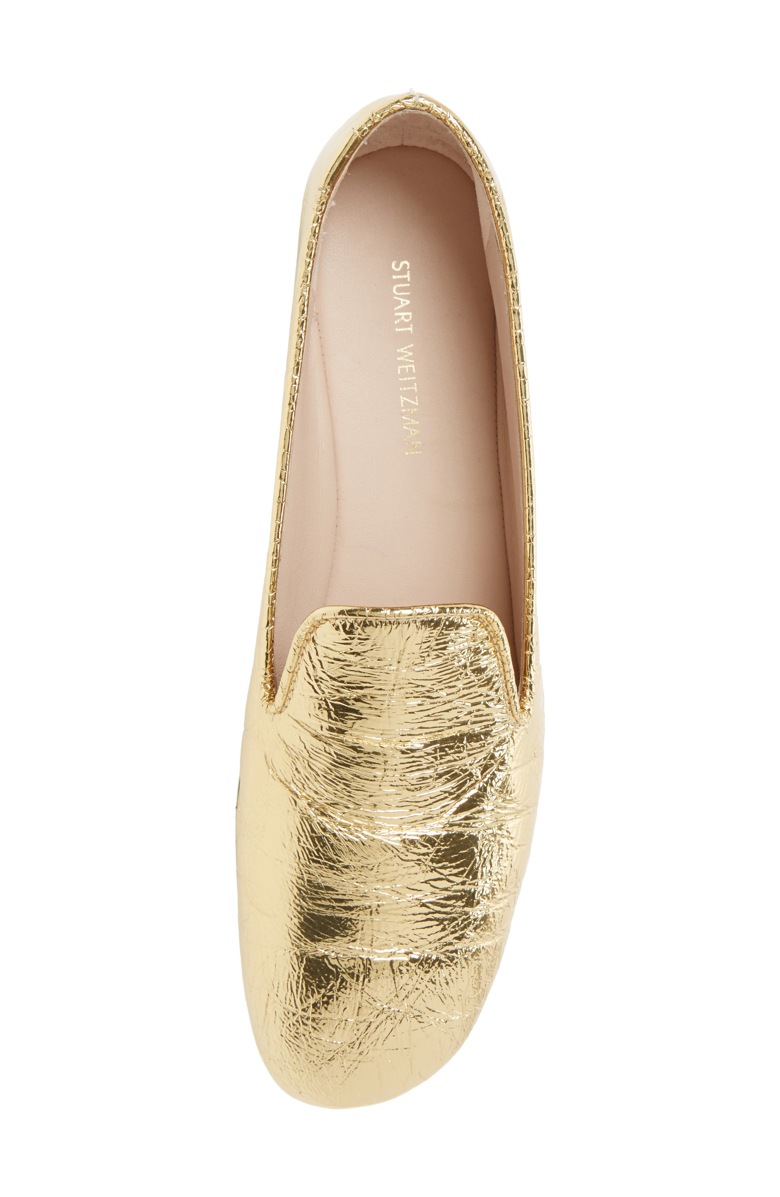 Myguy Venetian Loafer,                             Alternate thumbnail 5, color,                             Gold Look