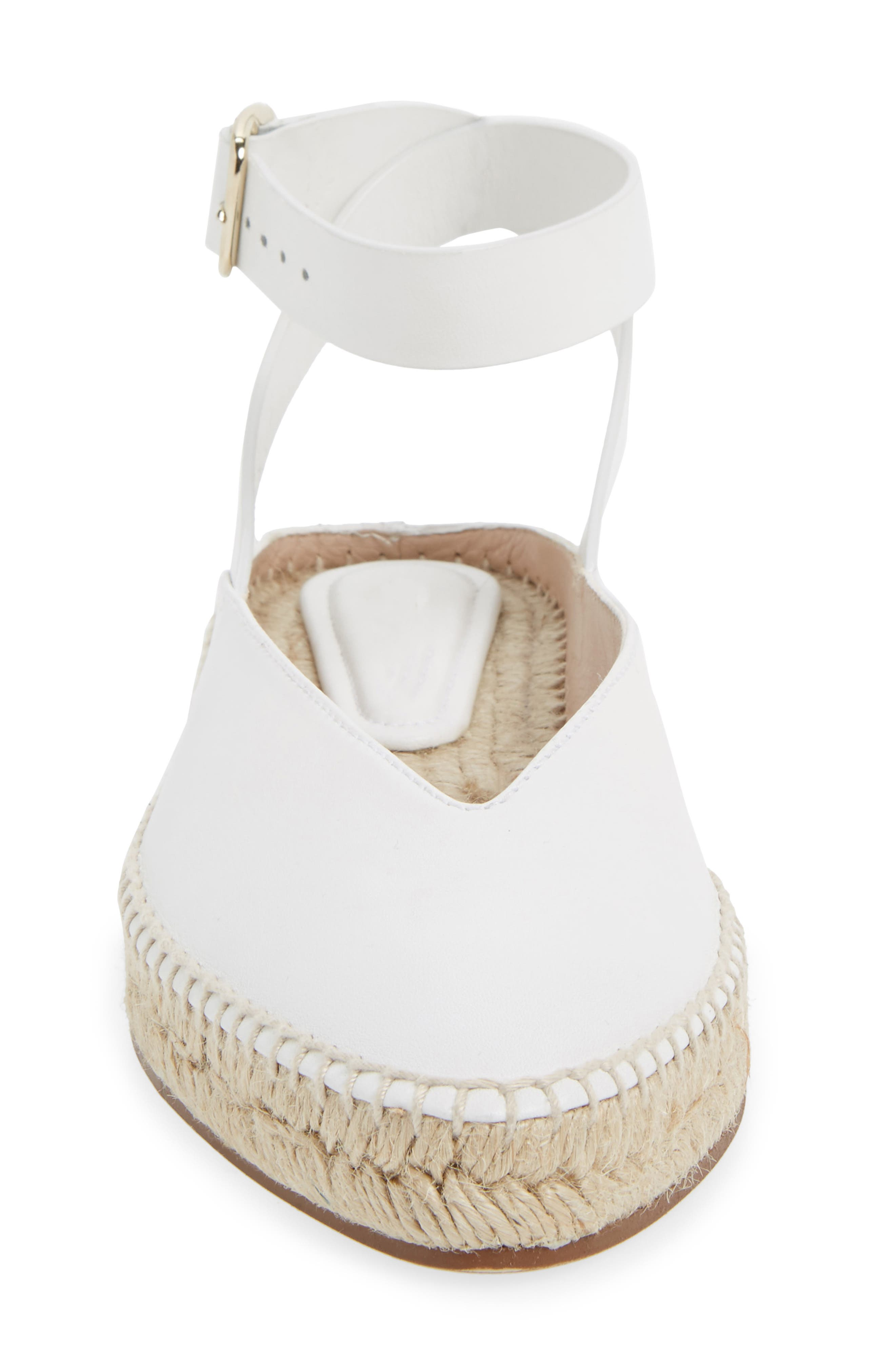 Toga Ankle Wrap Espadrille,                             Alternate thumbnail 4, color,                             Off White Arizona