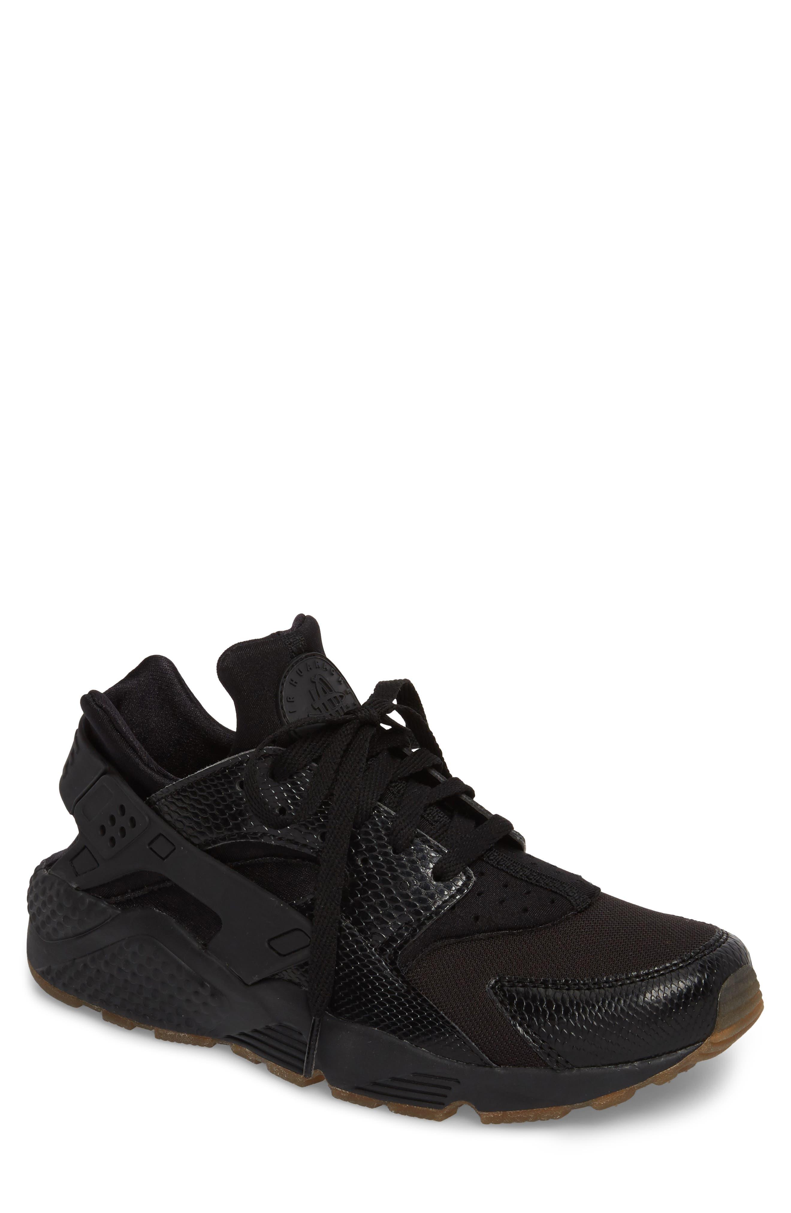 'Air Huarache' Sneaker,                         Main,                         color, Black/ Elemental Gold/ Brown