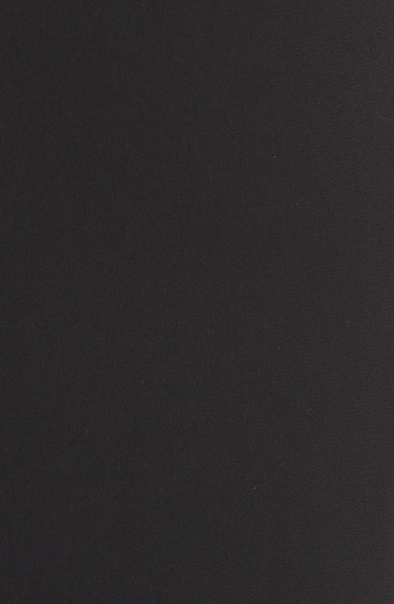 Brianna Strappy Back Maxi Dress,                             Alternate thumbnail 5, color,                             Black