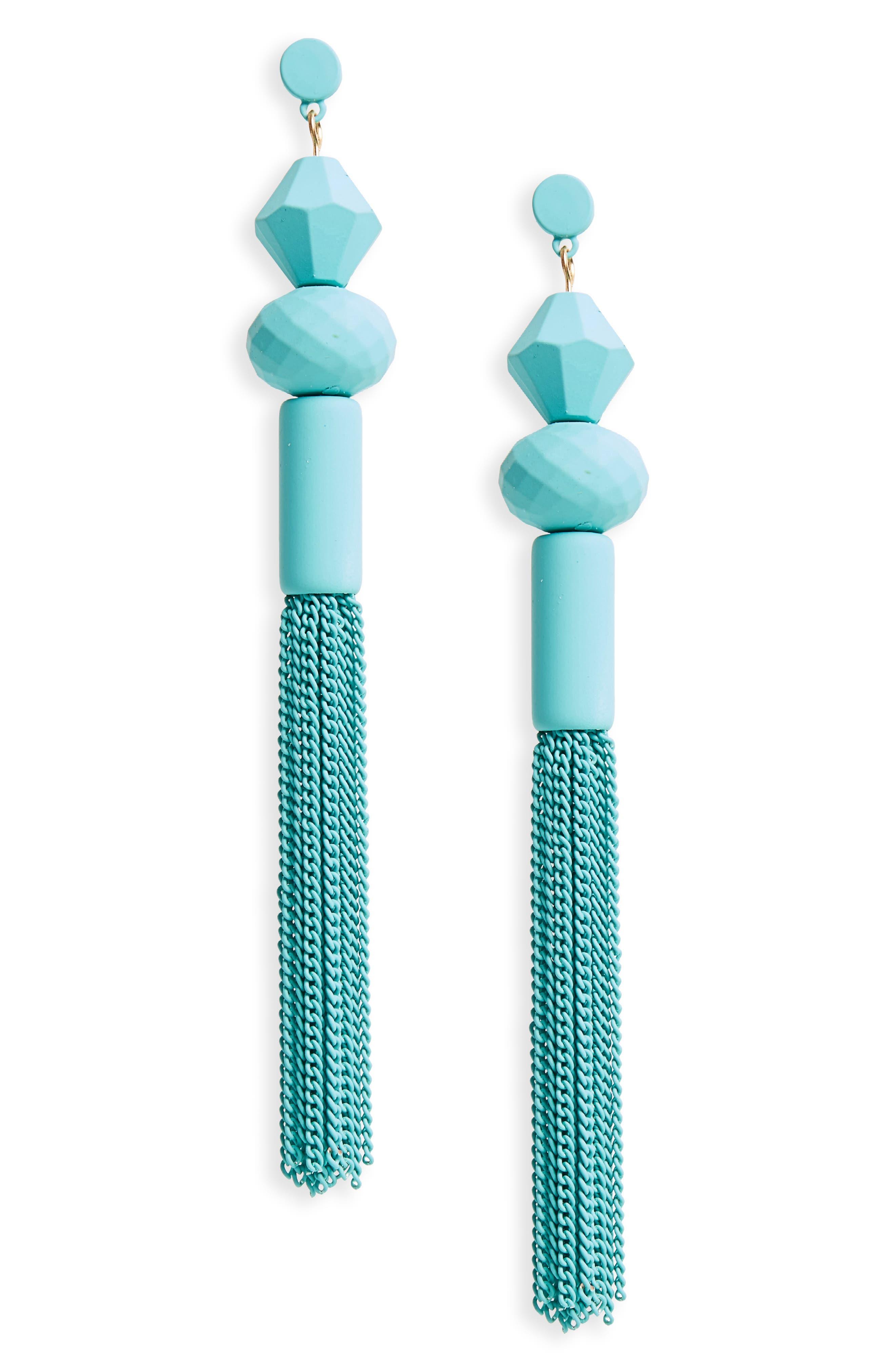 BP. Geometric Tassel Drop Earrings