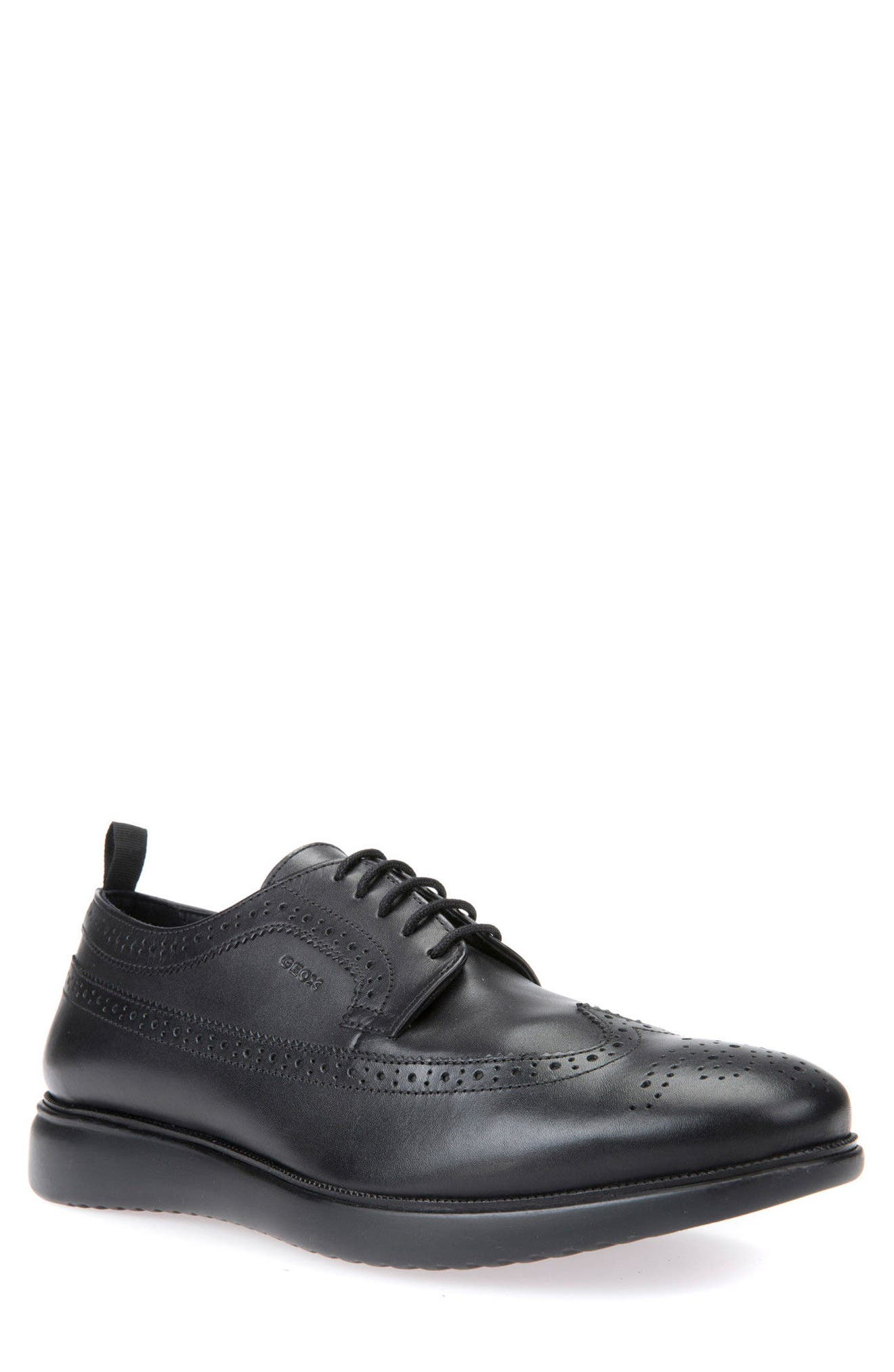 Winfred 3 Wingtip,                             Main thumbnail 1, color,                             Black Leather