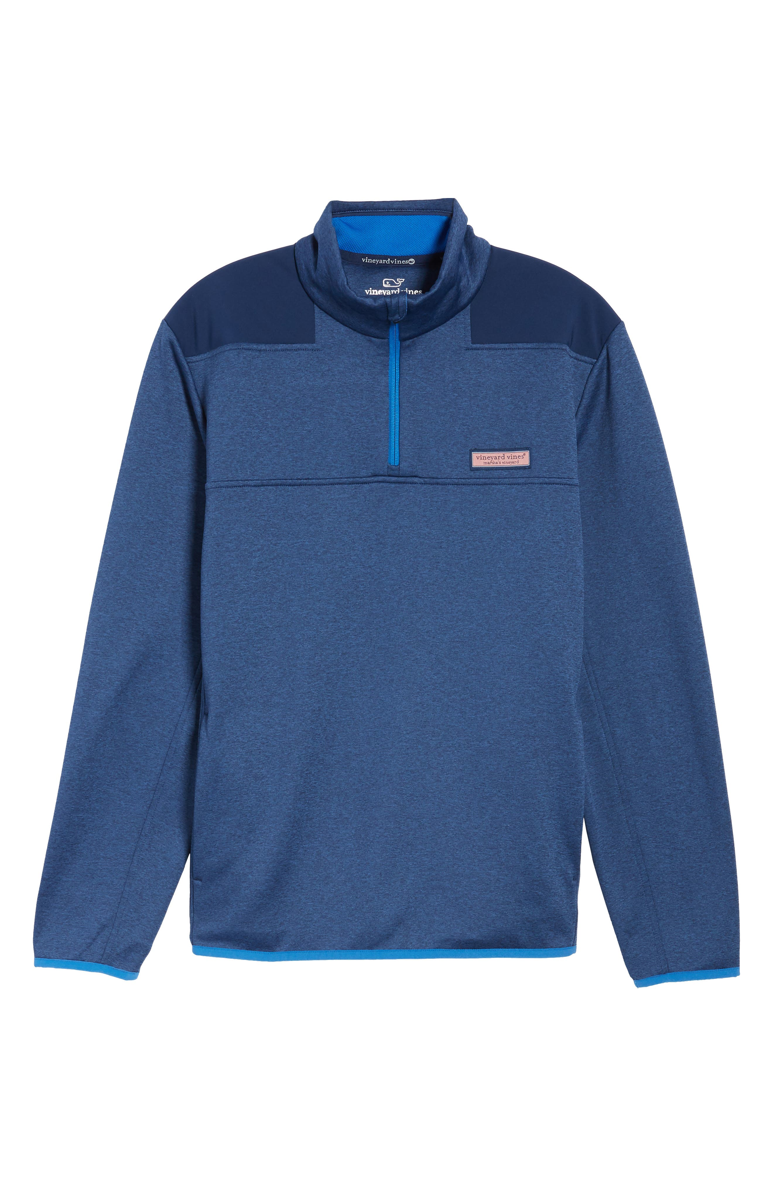 Shep Performance Fleece Quarter Zip Pullover,                             Alternate thumbnail 6, color,                             Deep Bay