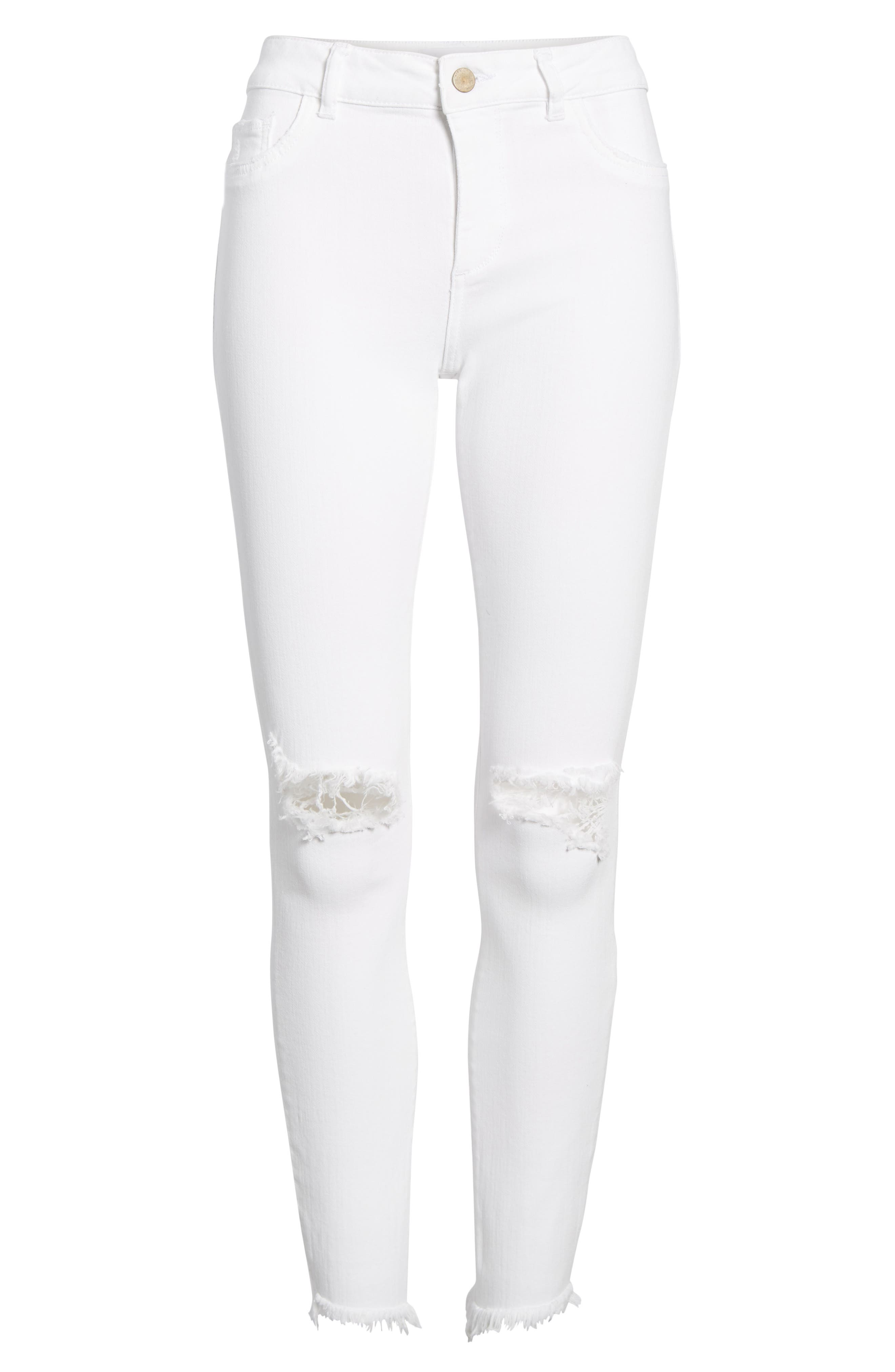 Margaux Instasculpt Ankle Skinny Jeans,                             Alternate thumbnail 7, color,                             Newport