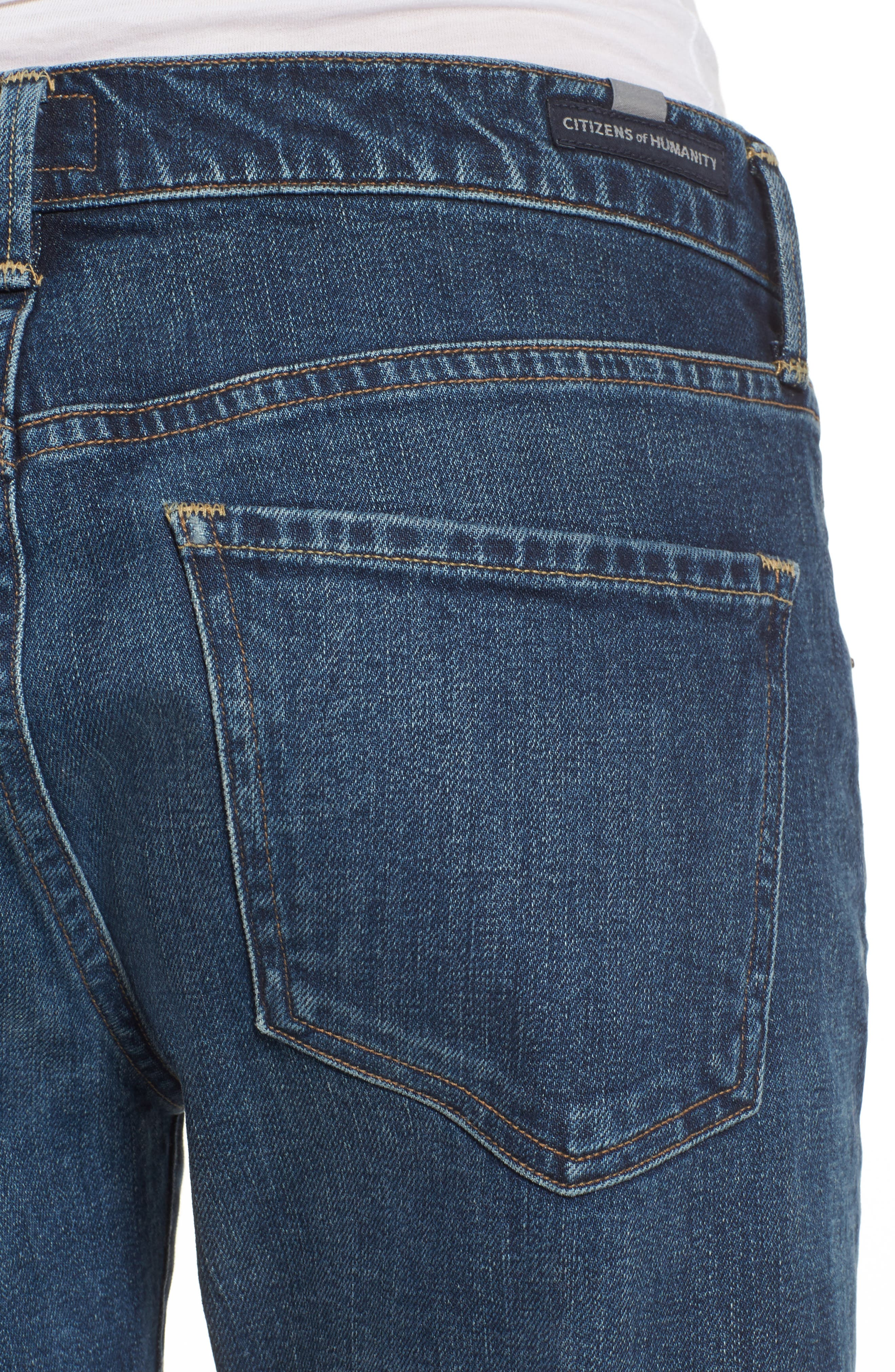 Emerson Slim Boyfriend Jeans,                             Alternate thumbnail 6, color,                             New Moon
