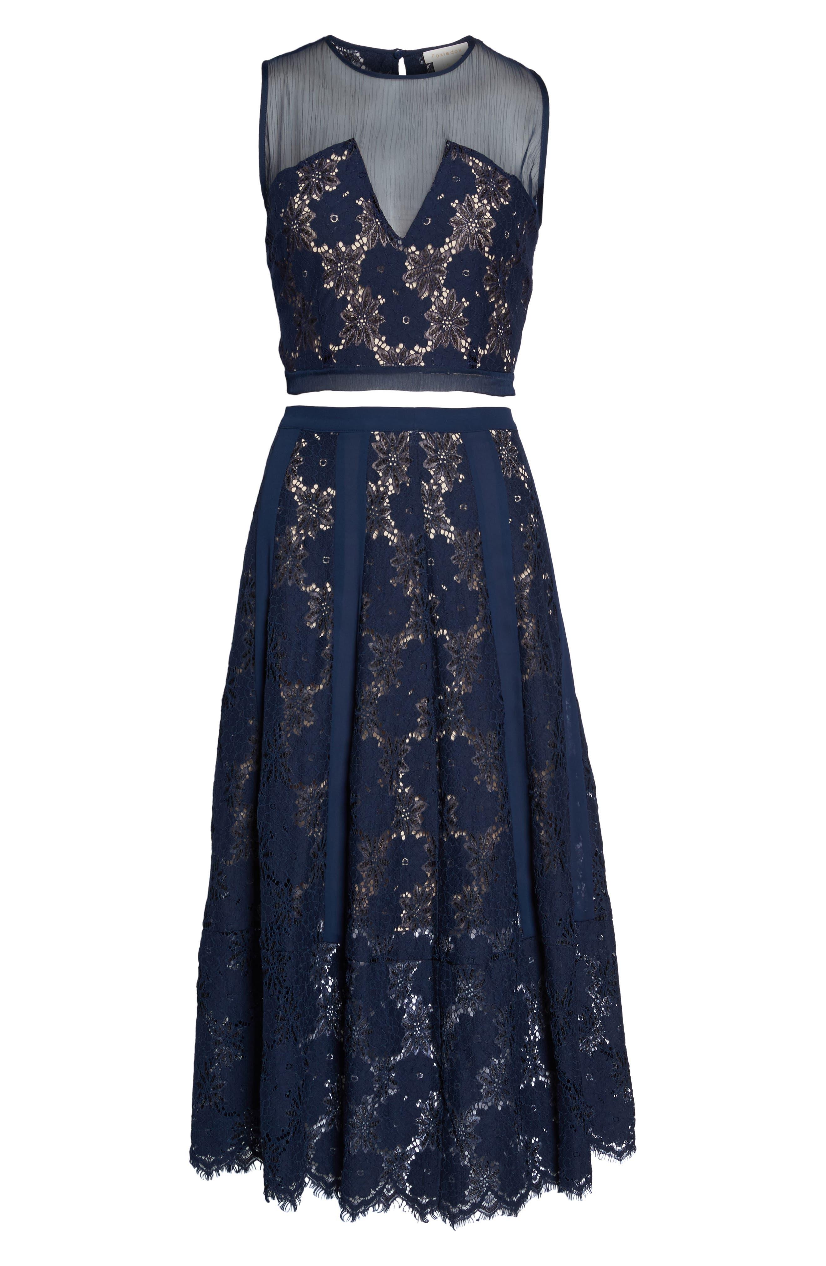 Atiqah Two-Piece Dress,                             Alternate thumbnail 6, color,                             Navy