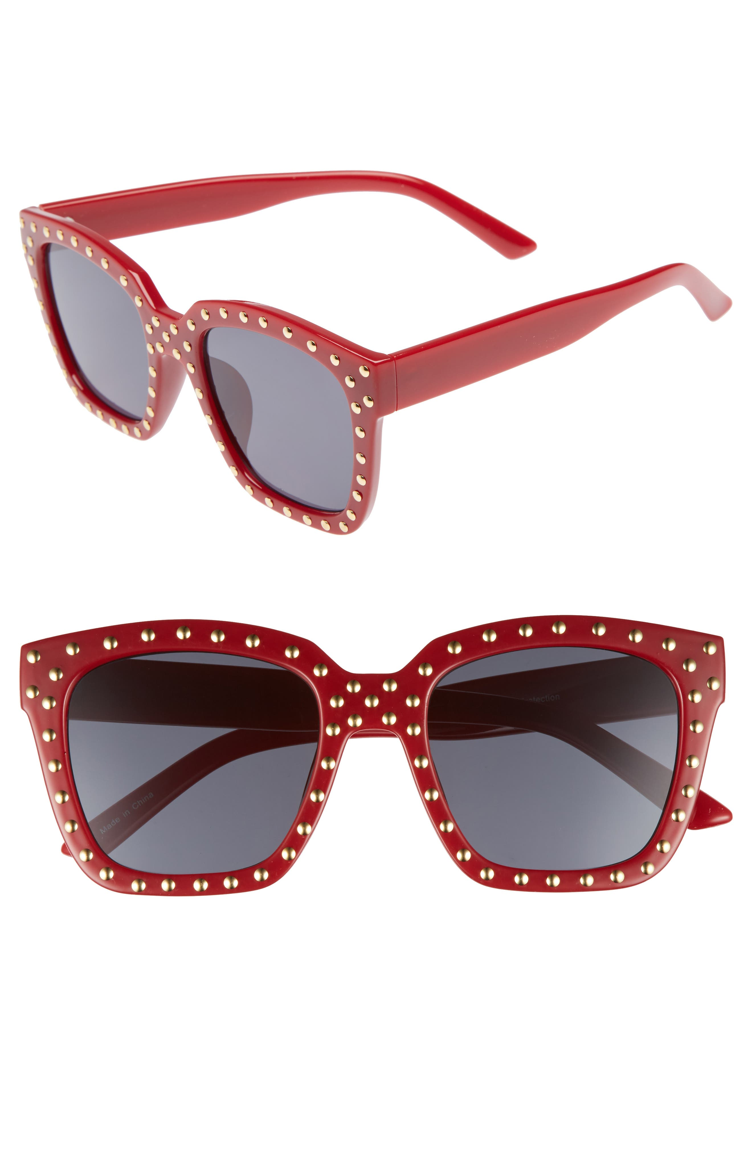 Main Image - BP. Studded Square Sunglasses