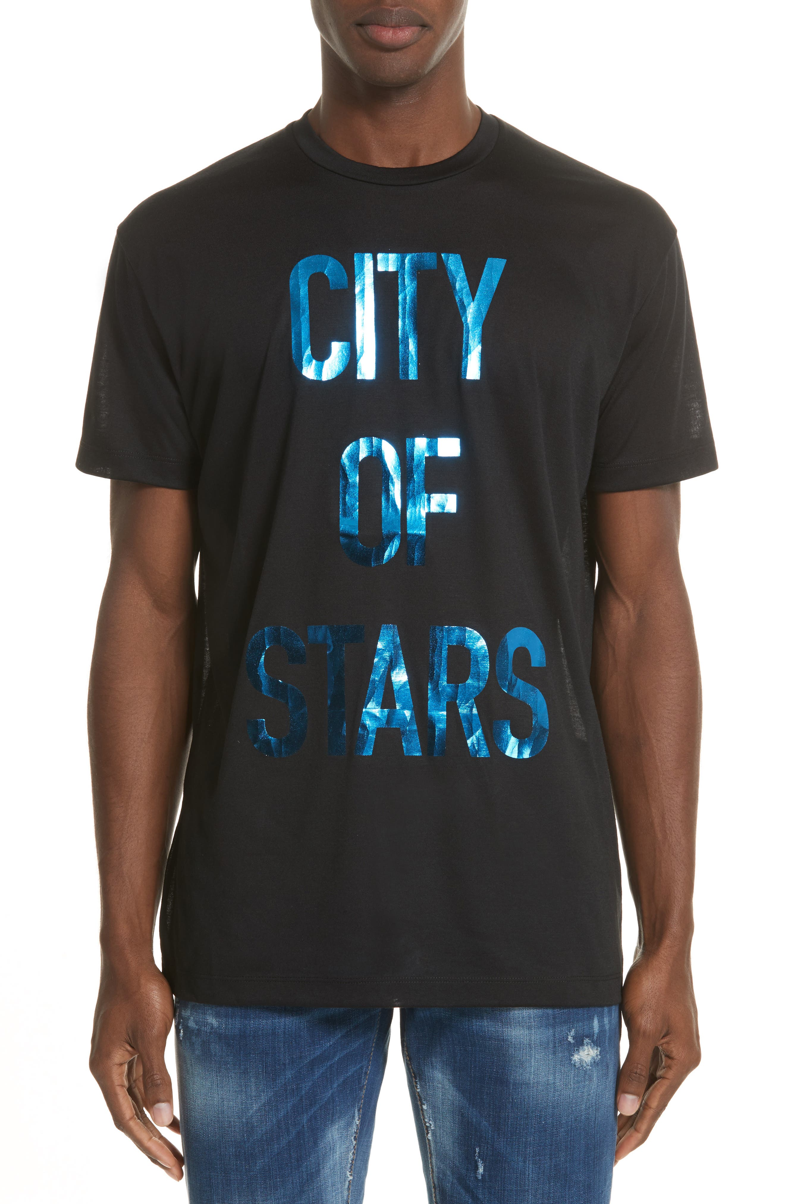 City of Stars Graphic T-Shirt,                         Main,                         color, Black