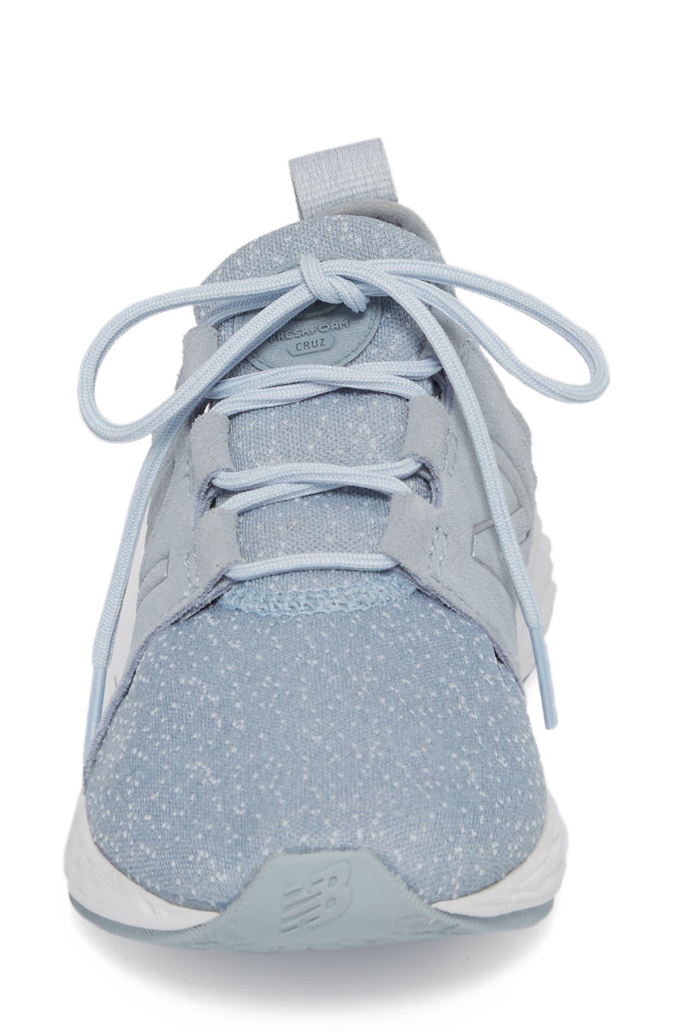 Fresh Foam Cruz Running Shoe,                             Alternate thumbnail 4, color,                             Light Slate