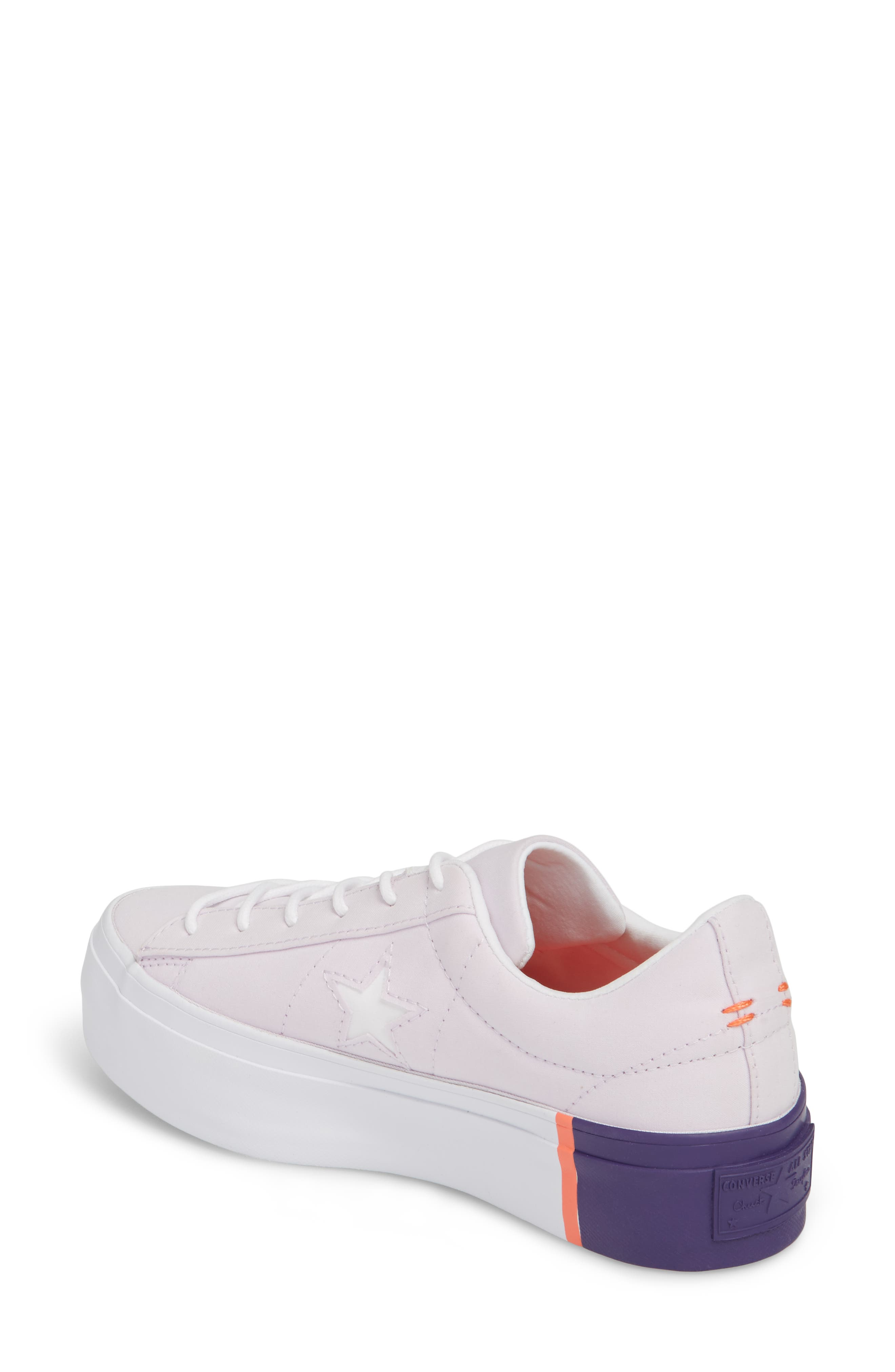 Chuck Taylor<sup>®</sup> All Star<sup>®</sup> One Star Platform Sneaker,                             Alternate thumbnail 2, color,                             Barely Grape