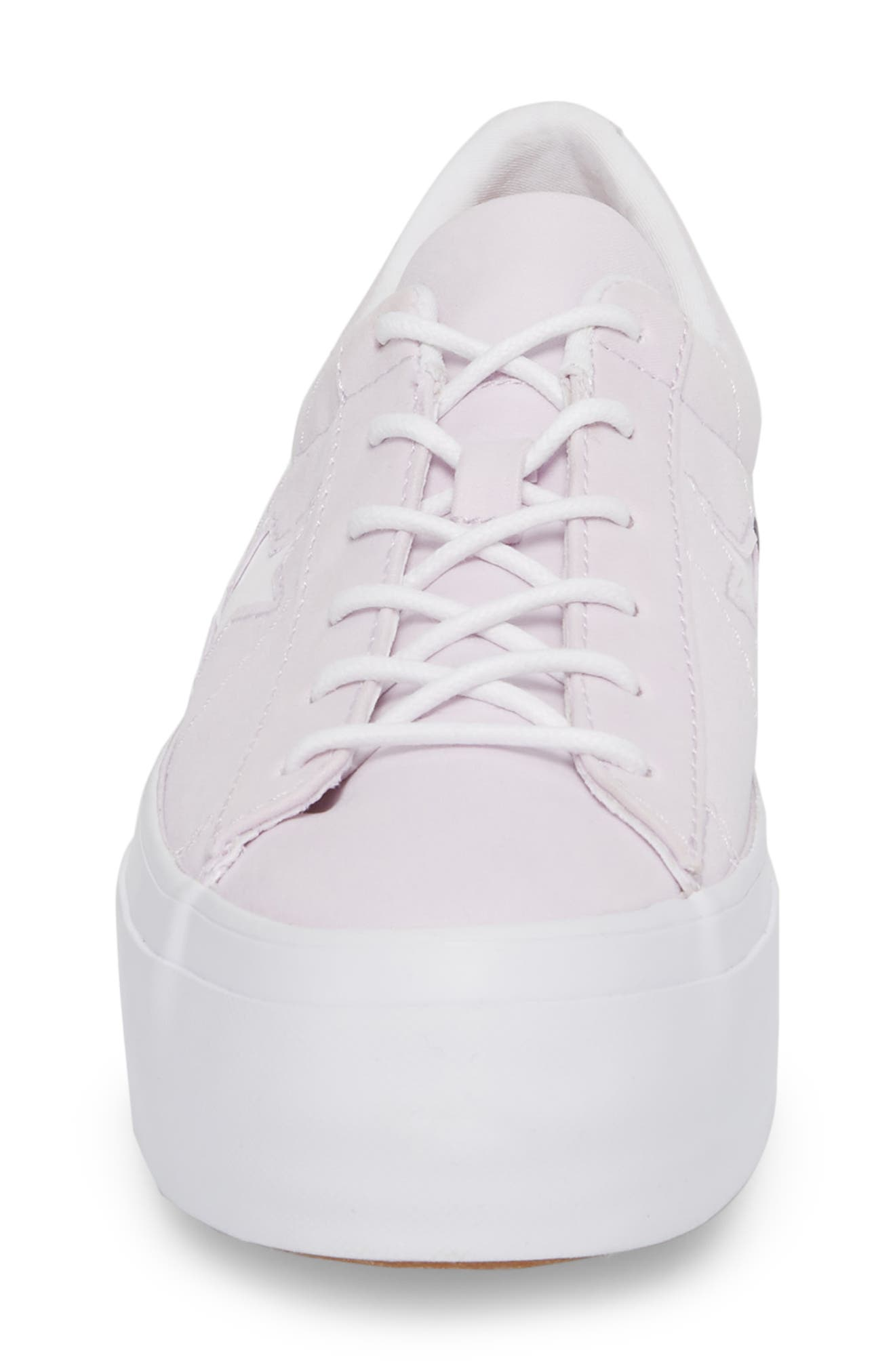 Chuck Taylor<sup>®</sup> All Star<sup>®</sup> One Star Platform Sneaker,                             Alternate thumbnail 4, color,                             Barely Grape
