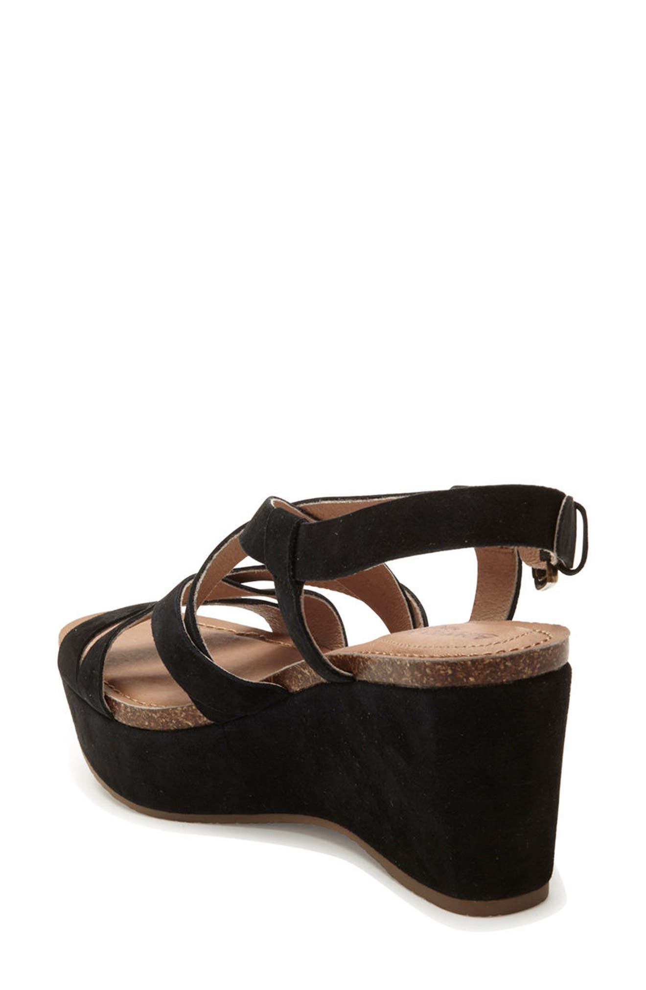 Adam Tucker Bria Strappy Sandal,                             Alternate thumbnail 2, color,                             Black Suede