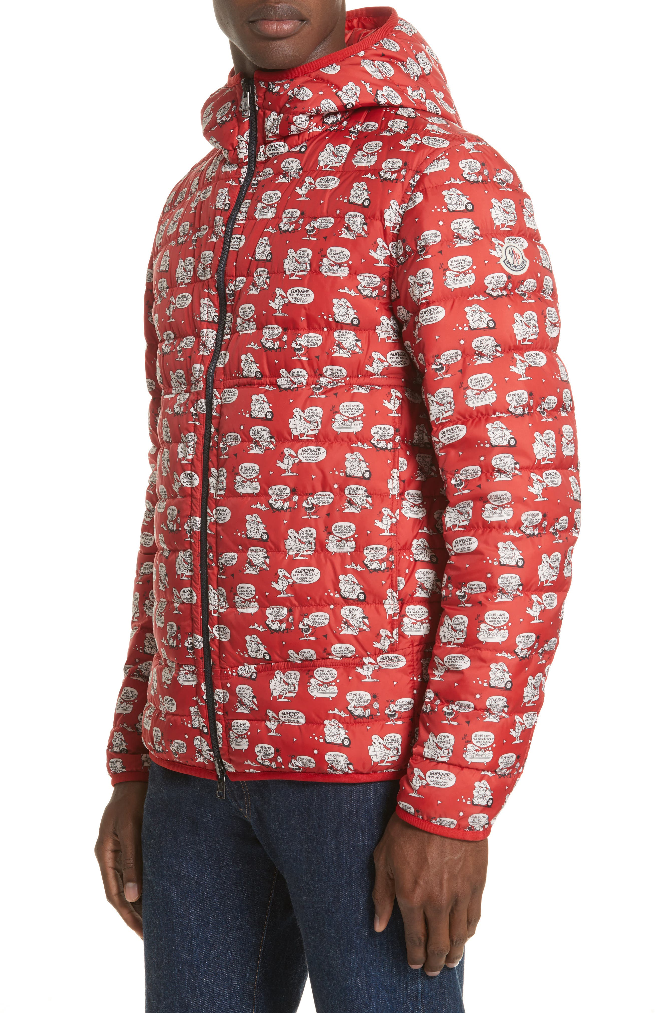 Oise Reversible Down Jacket,                         Main,                         color, Dark Red