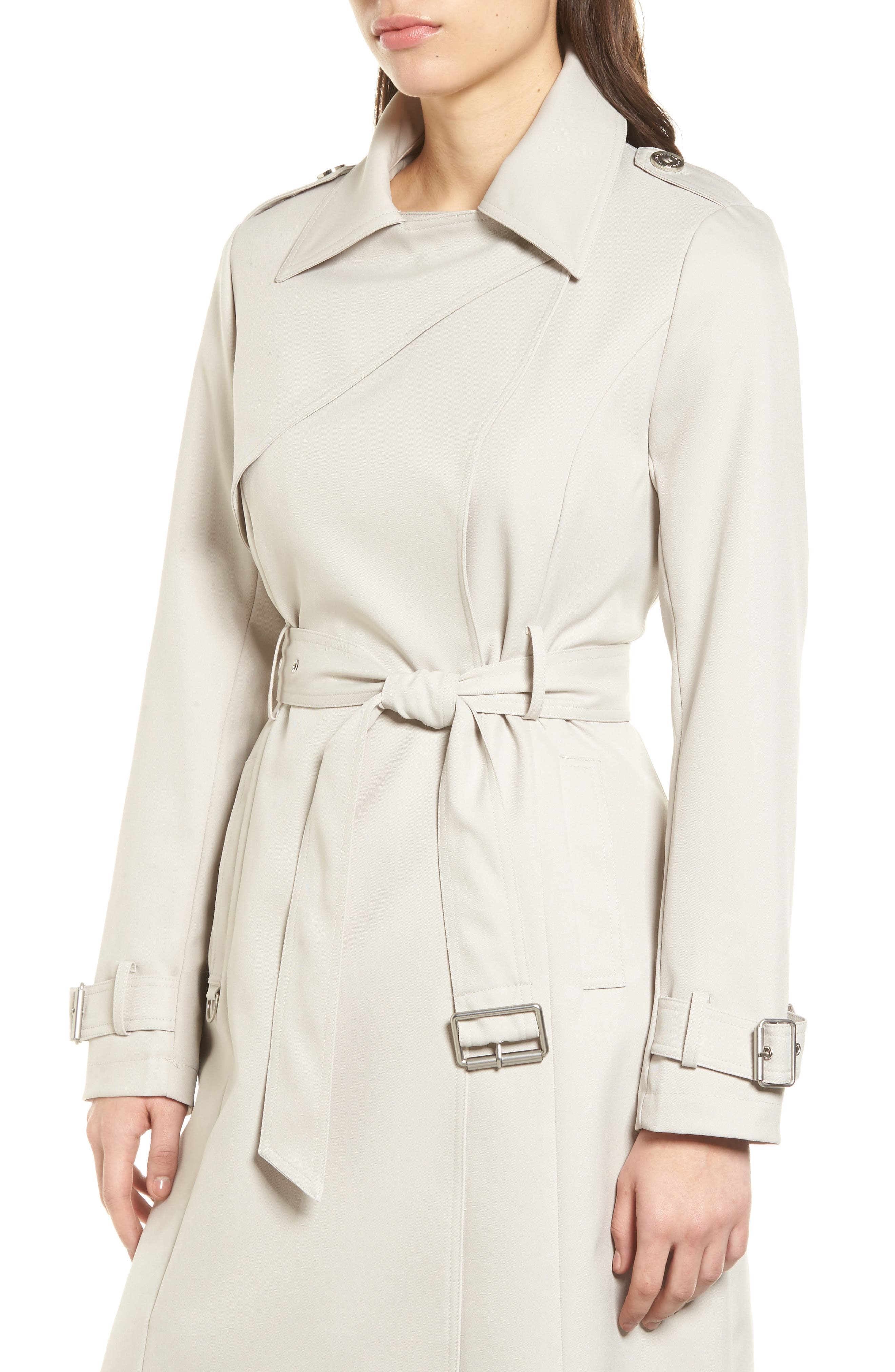 Alternate Image 4  - French Connection Flowy Belted Trench Coat