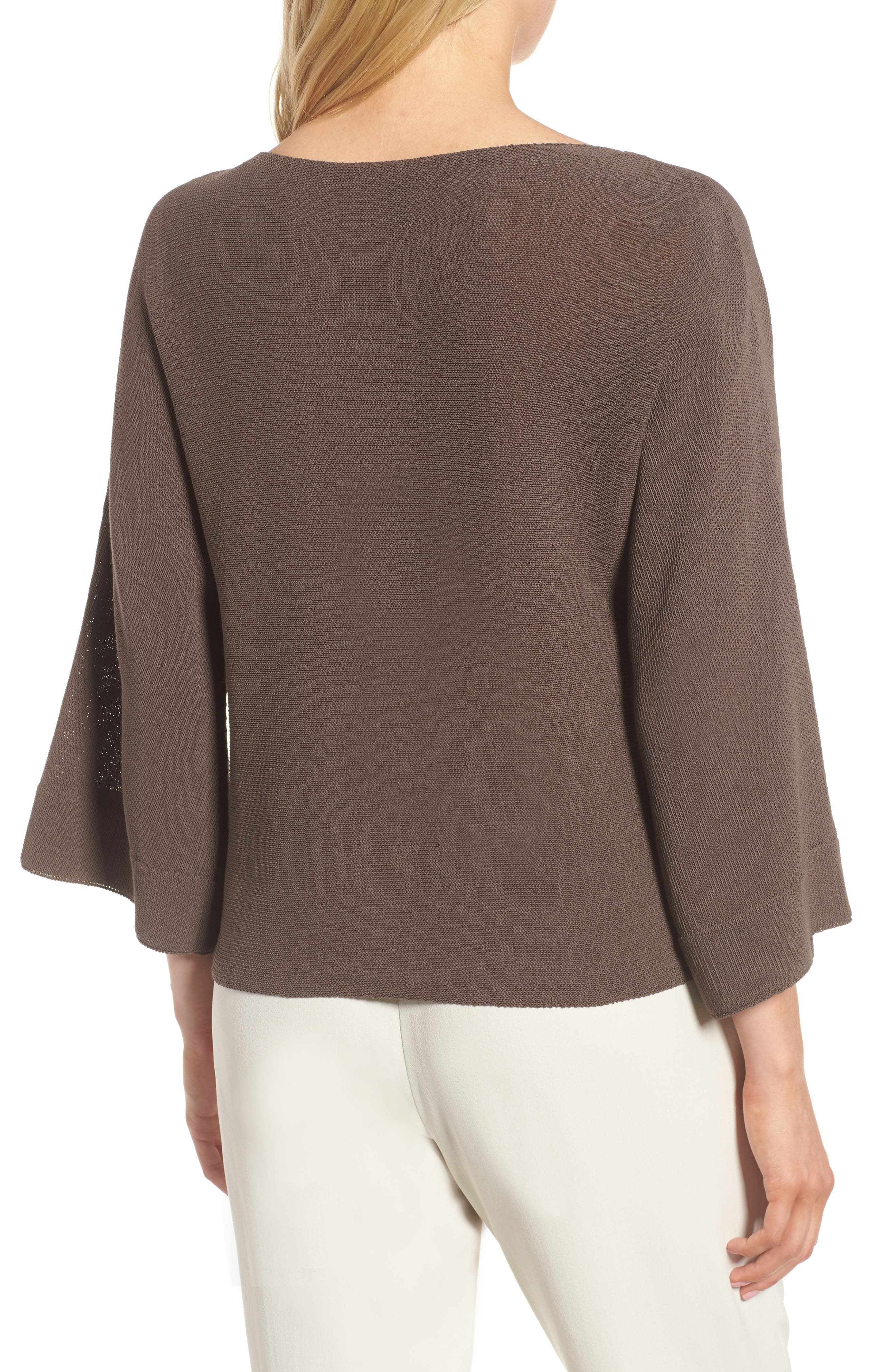 Organic Cotton Blend Sweater,                             Alternate thumbnail 2, color,                             Rye