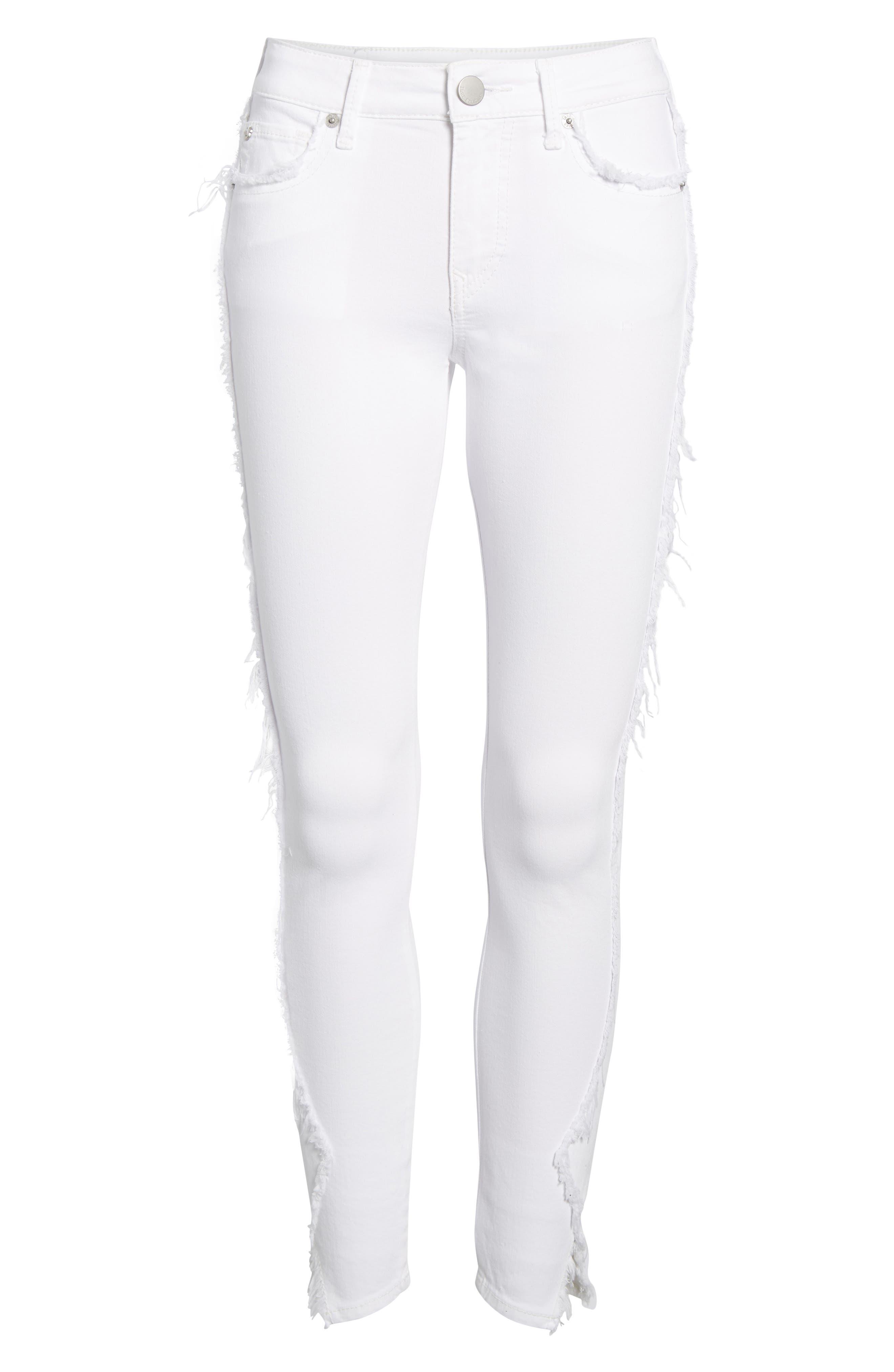 Jennie Curvy Skinny Jeans,                             Alternate thumbnail 7, color,                             Optic White