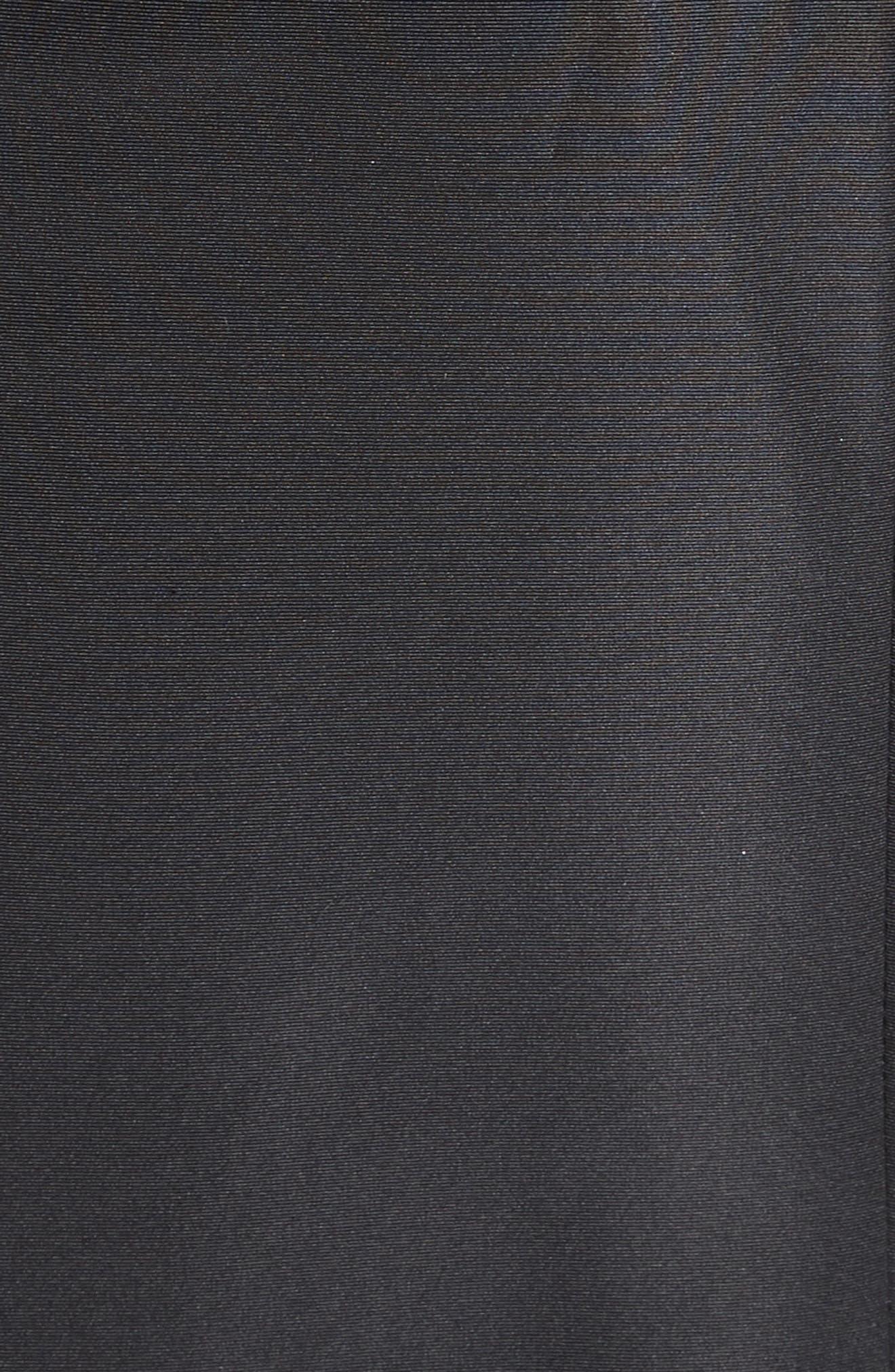 Silk Faille Mermaid Gown,                             Alternate thumbnail 5, color,                             Black
