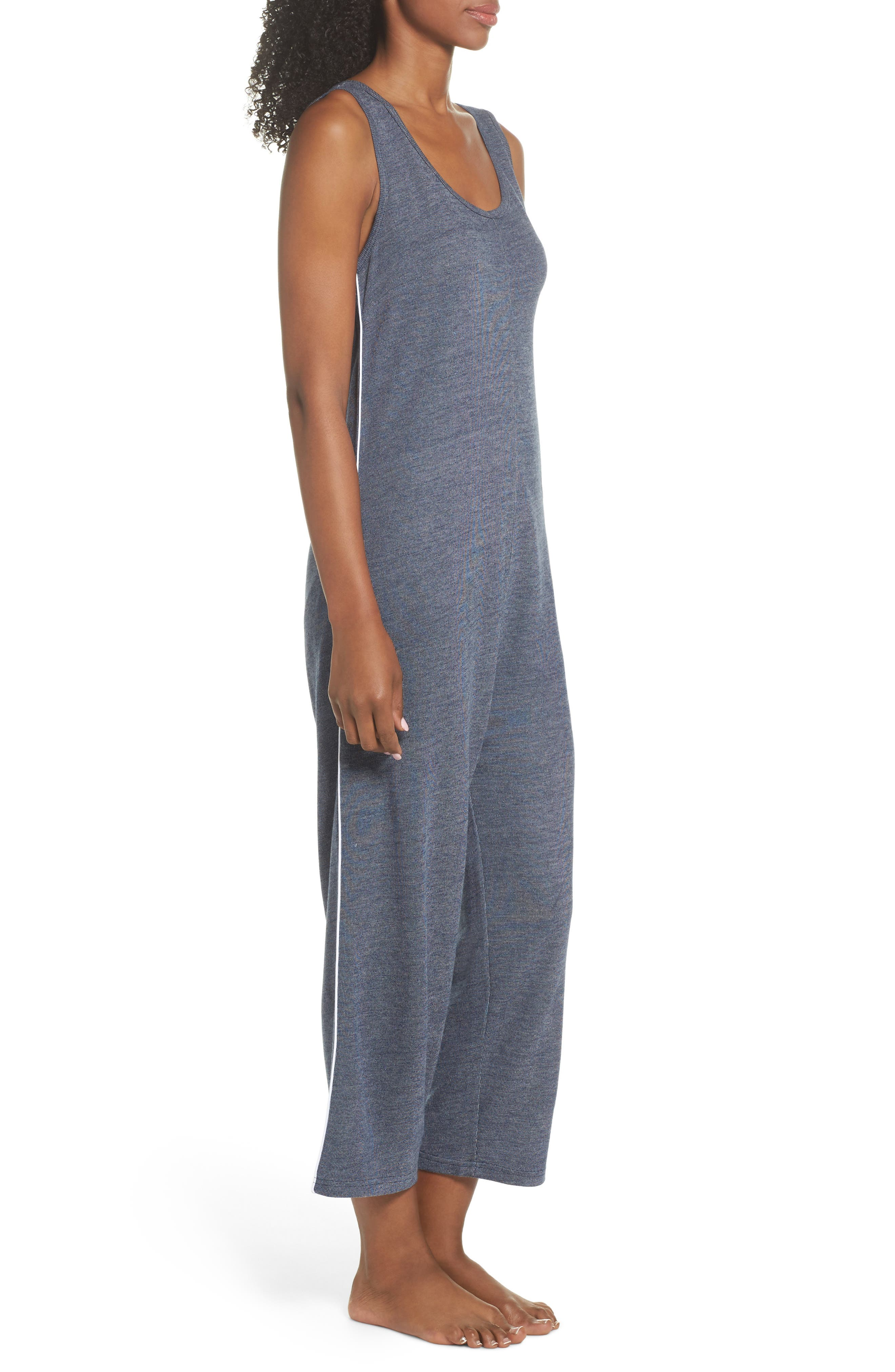 Harriet Lounge Jumpsuit,                             Alternate thumbnail 3, color,                             Midnight Marle