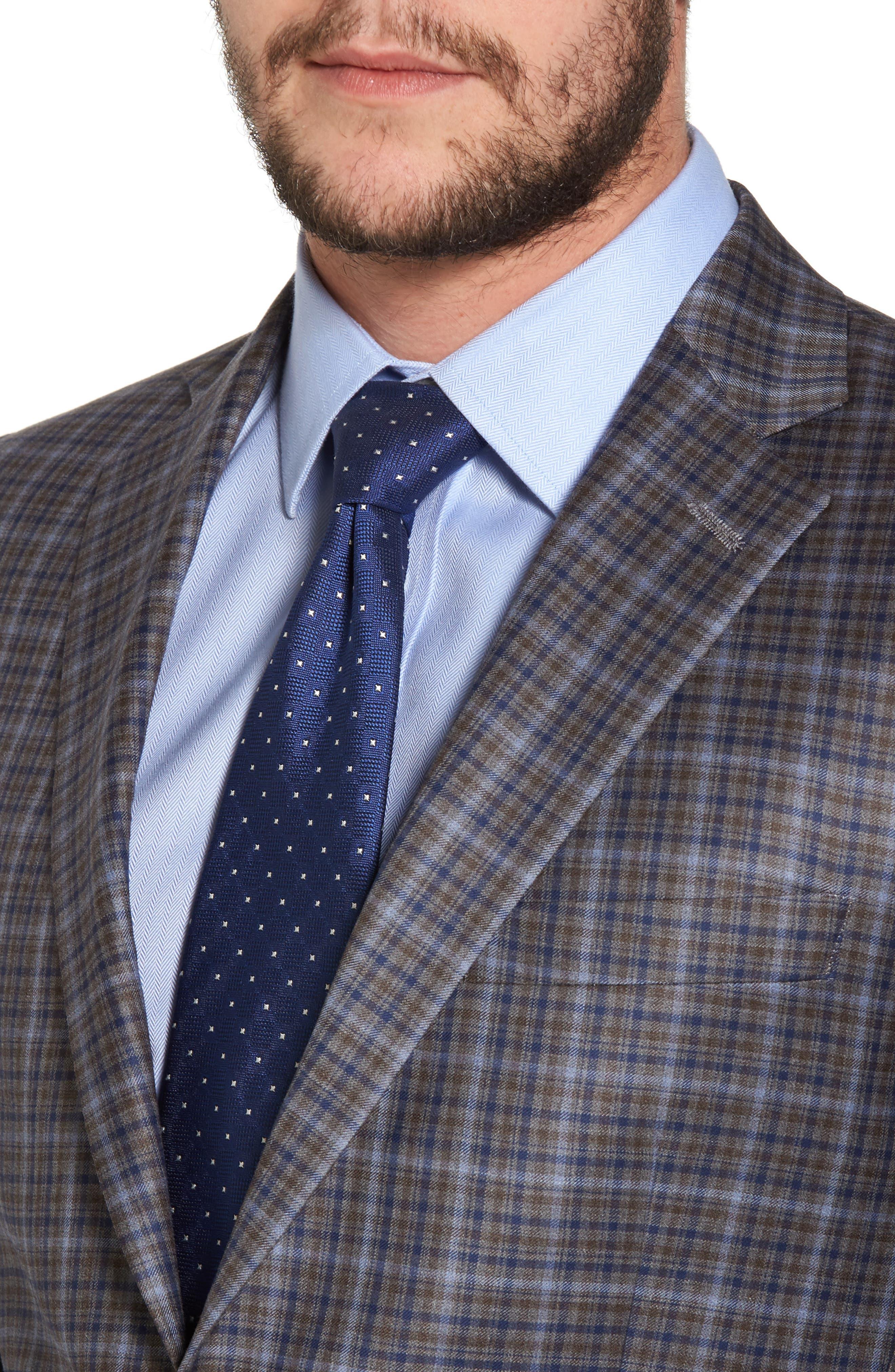 Classic Fit Plaid Wool Sport Coat,                             Alternate thumbnail 4, color,                             Tan
