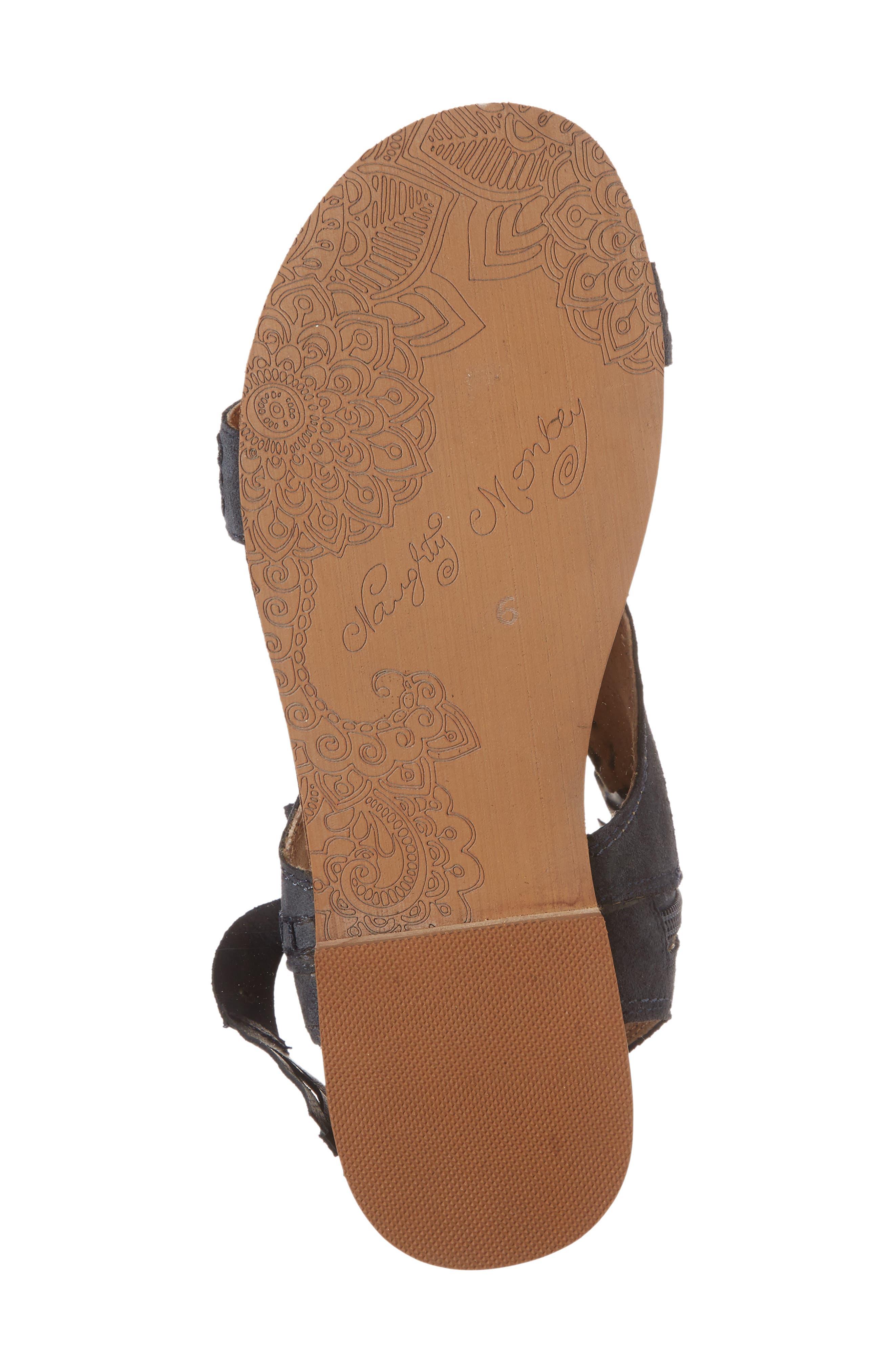 Cochise Flat Sandal,                             Alternate thumbnail 6, color,                             Indigo Suede