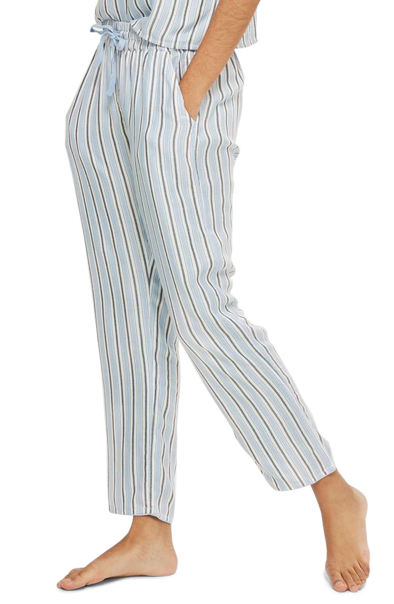 Bobby Stripe Pajama Pants,                             Main thumbnail 1, color,                             Blue Multi