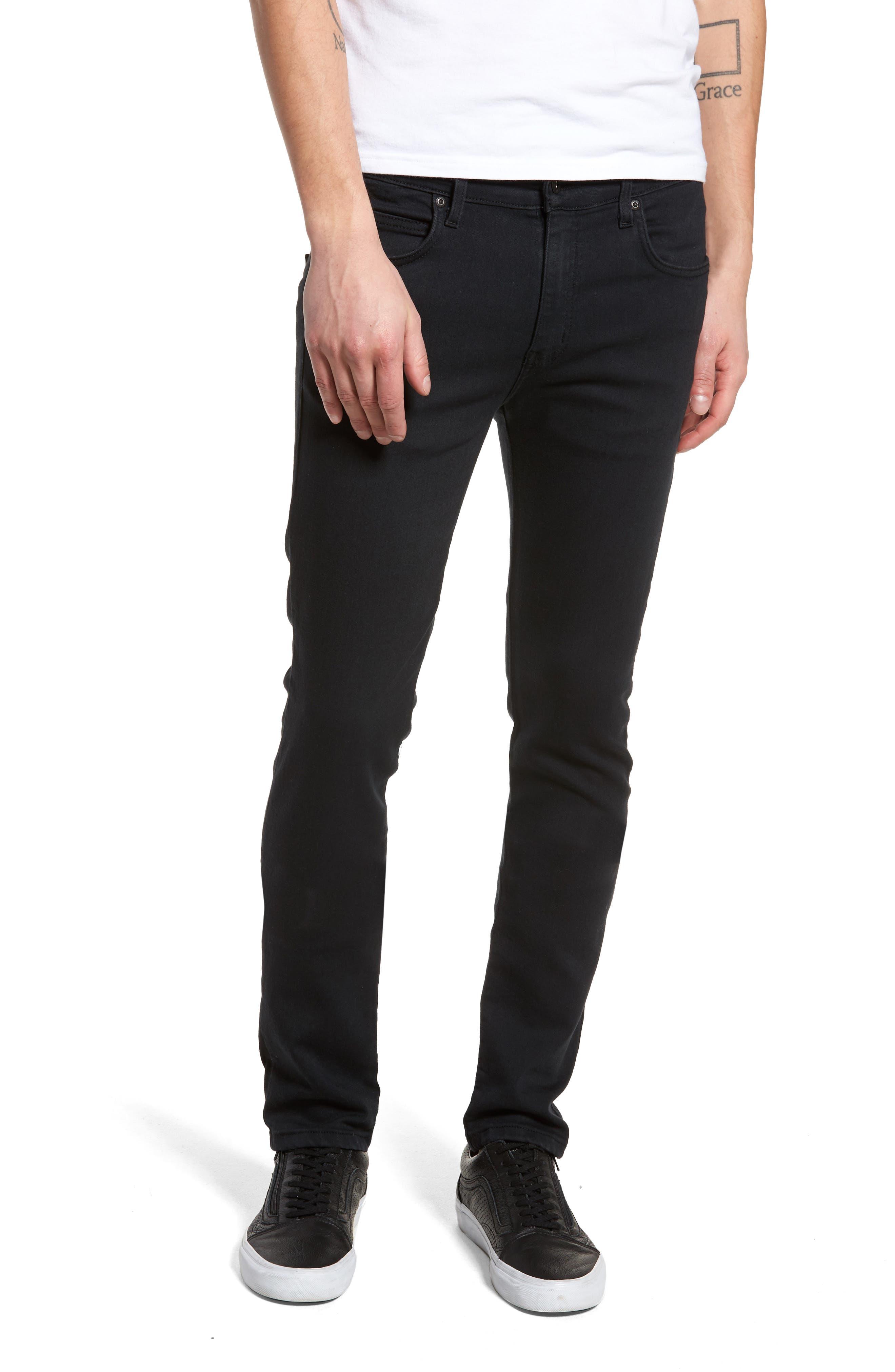 Super Skinny Guy Skinny Fit Jeans,                             Main thumbnail 1, color,                             Black