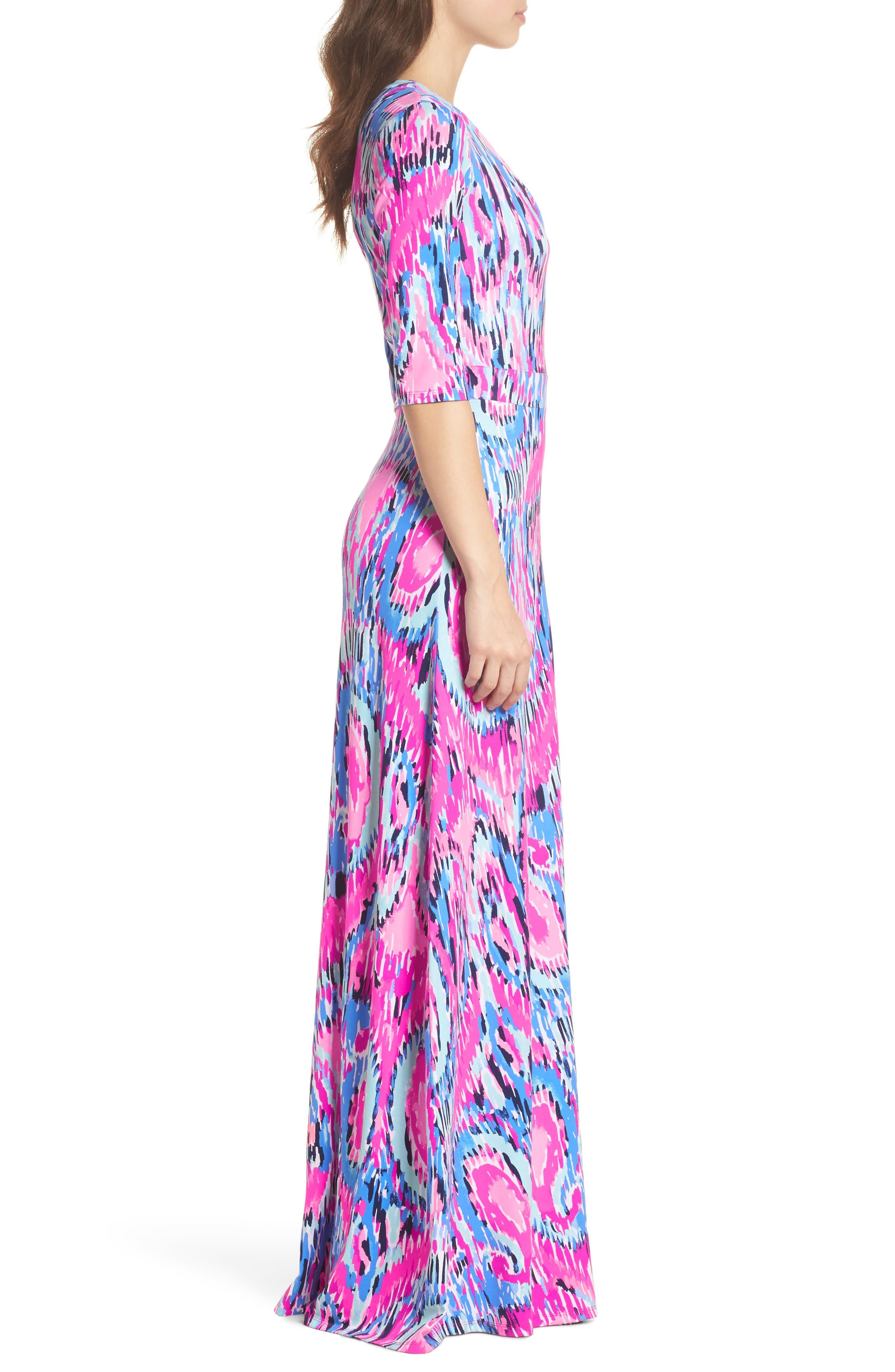 Marvista Wrap Maxi Dress,                             Alternate thumbnail 3, color,                             Multi Free Spirit