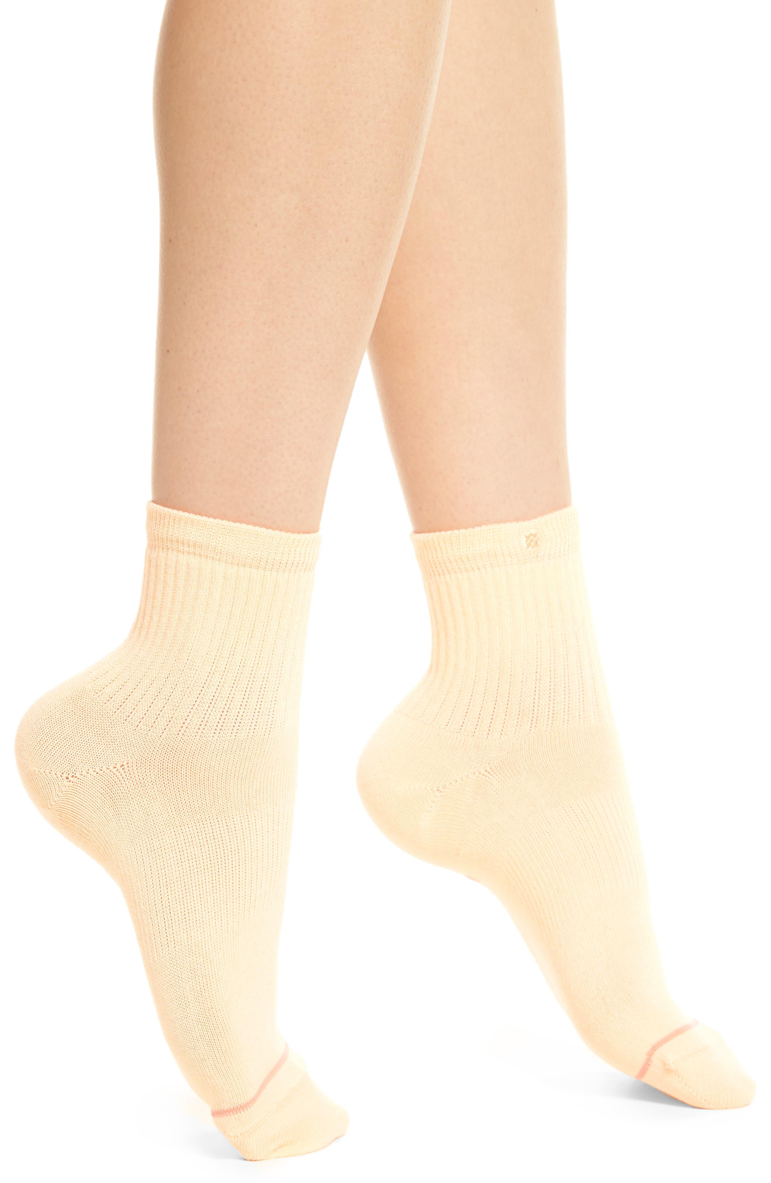 Uncommon Classic Ankle Socks,                             Main thumbnail 1, color,                             Mango