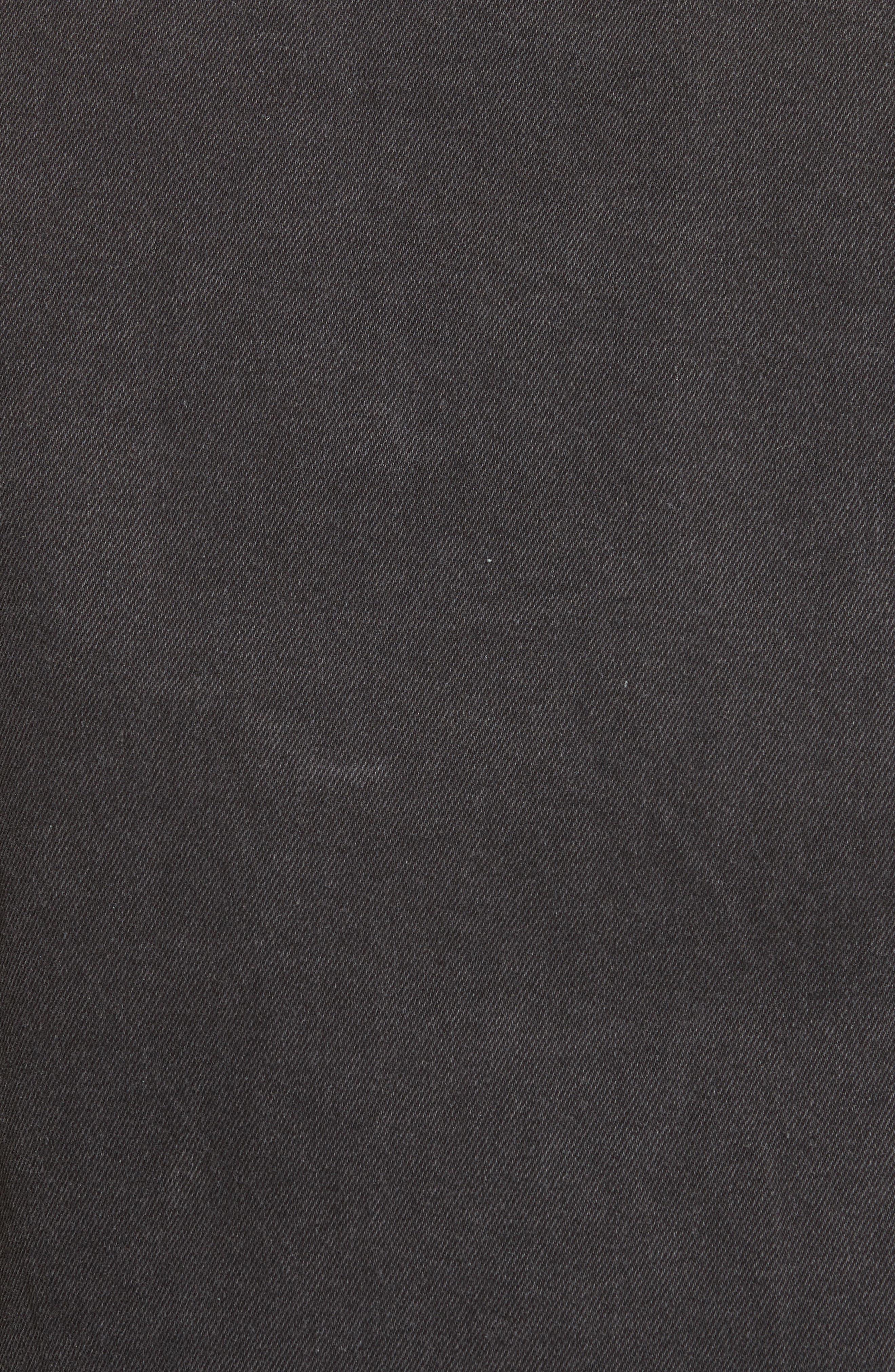 Classic Denim Jacket,                             Alternate thumbnail 5, color,                             Black
