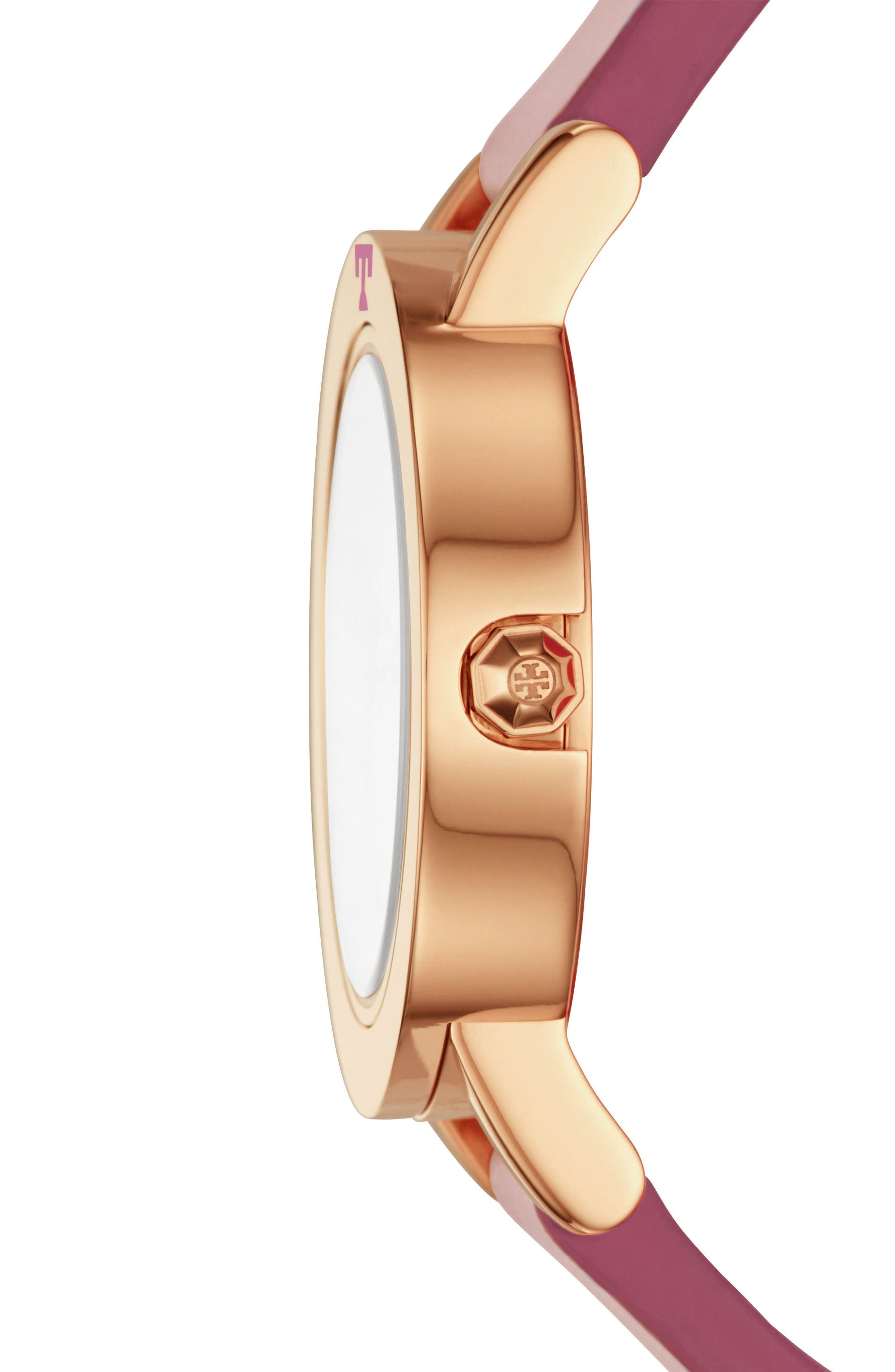 Ellsworth Leather Strap Watch, 36mm,                             Alternate thumbnail 3, color,                             Pink/ Cream/ Rose Gold