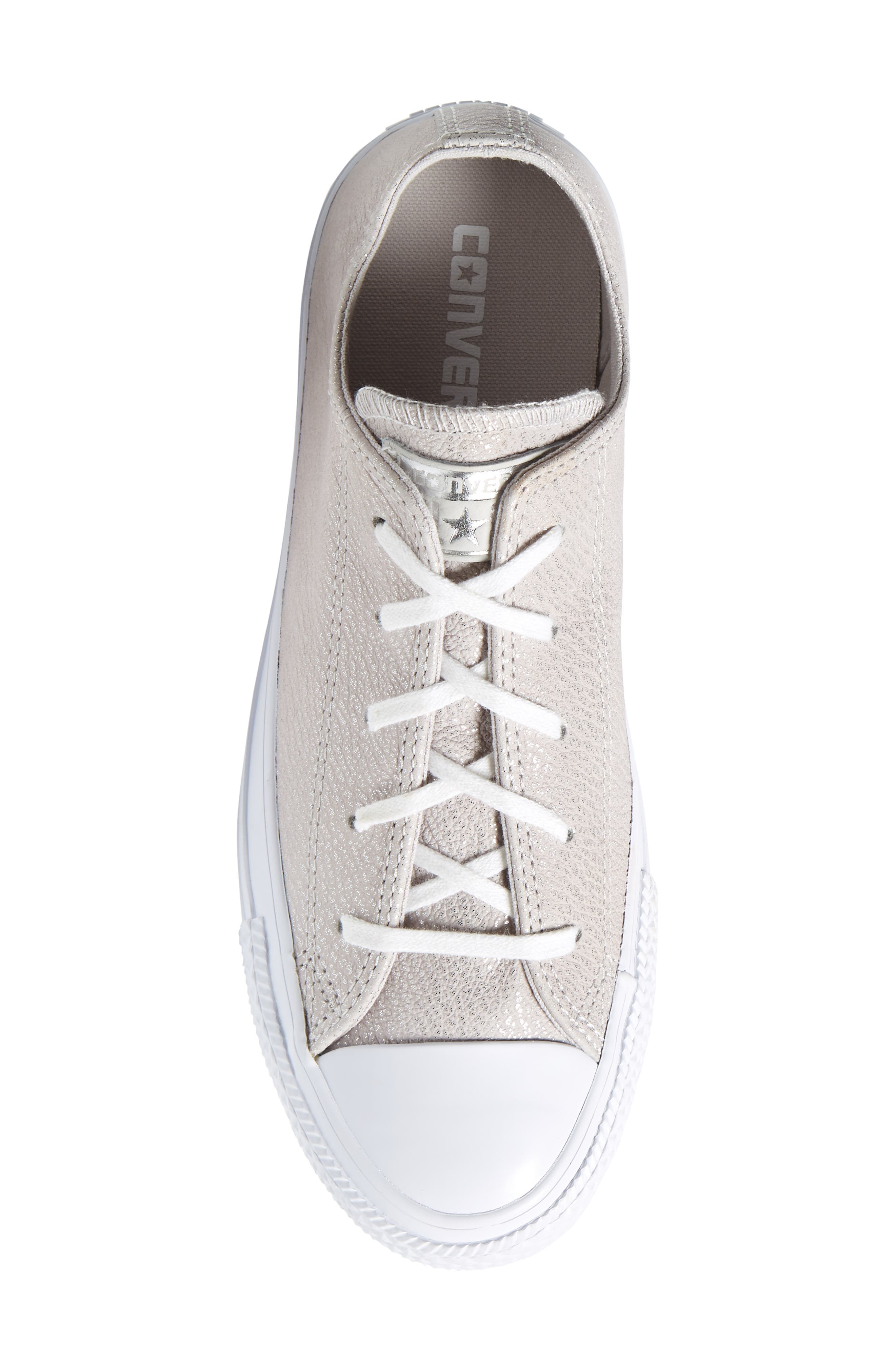 Chuck Taylor<sup>®</sup> All Star<sup>®</sup> Tipped Metallic Low Top Sneaker,                             Alternate thumbnail 5, color,                             Pale Putty