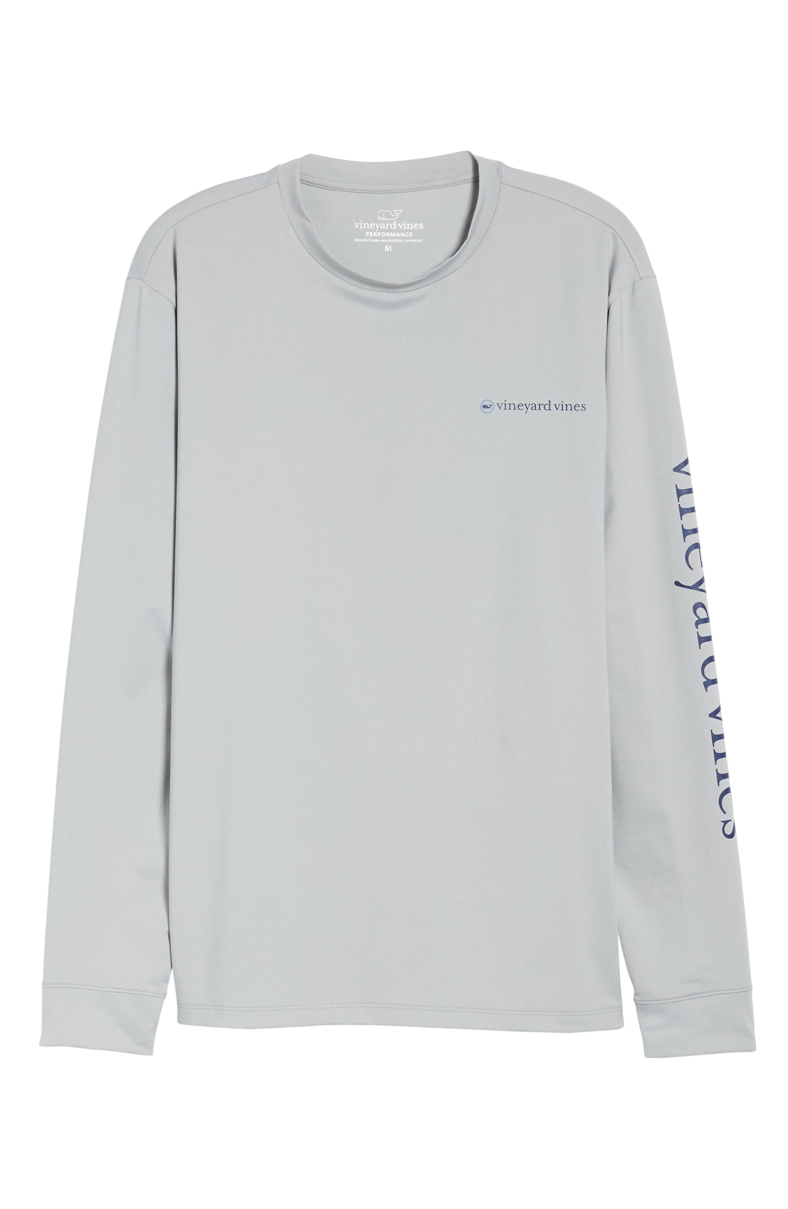 Heathered Long Sleeve Performance T-Shirt,                             Alternate thumbnail 6, color,                             Gray Heather