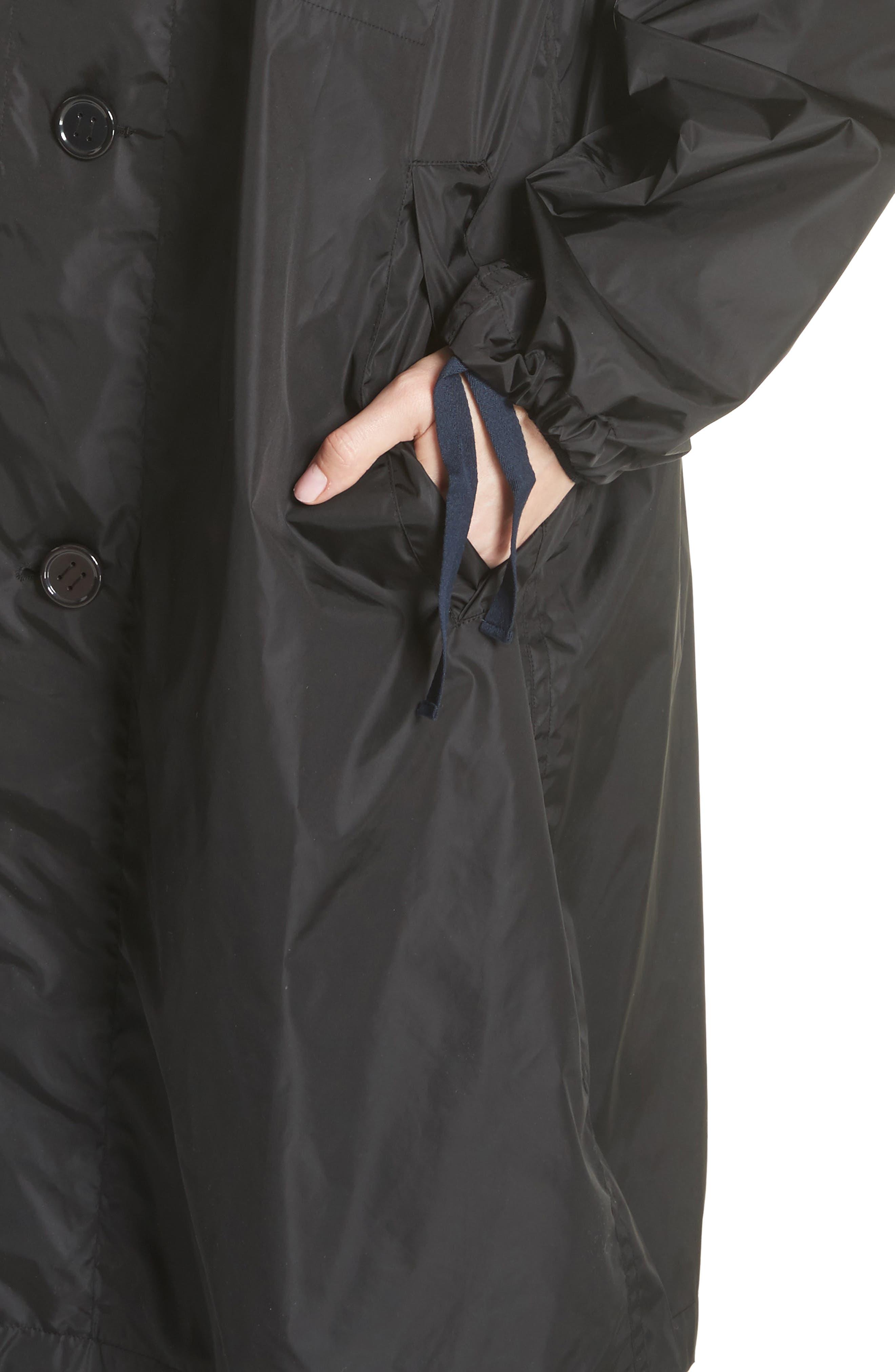 Raincoat with Inside Suspenders,                             Alternate thumbnail 5, color,                             Black
