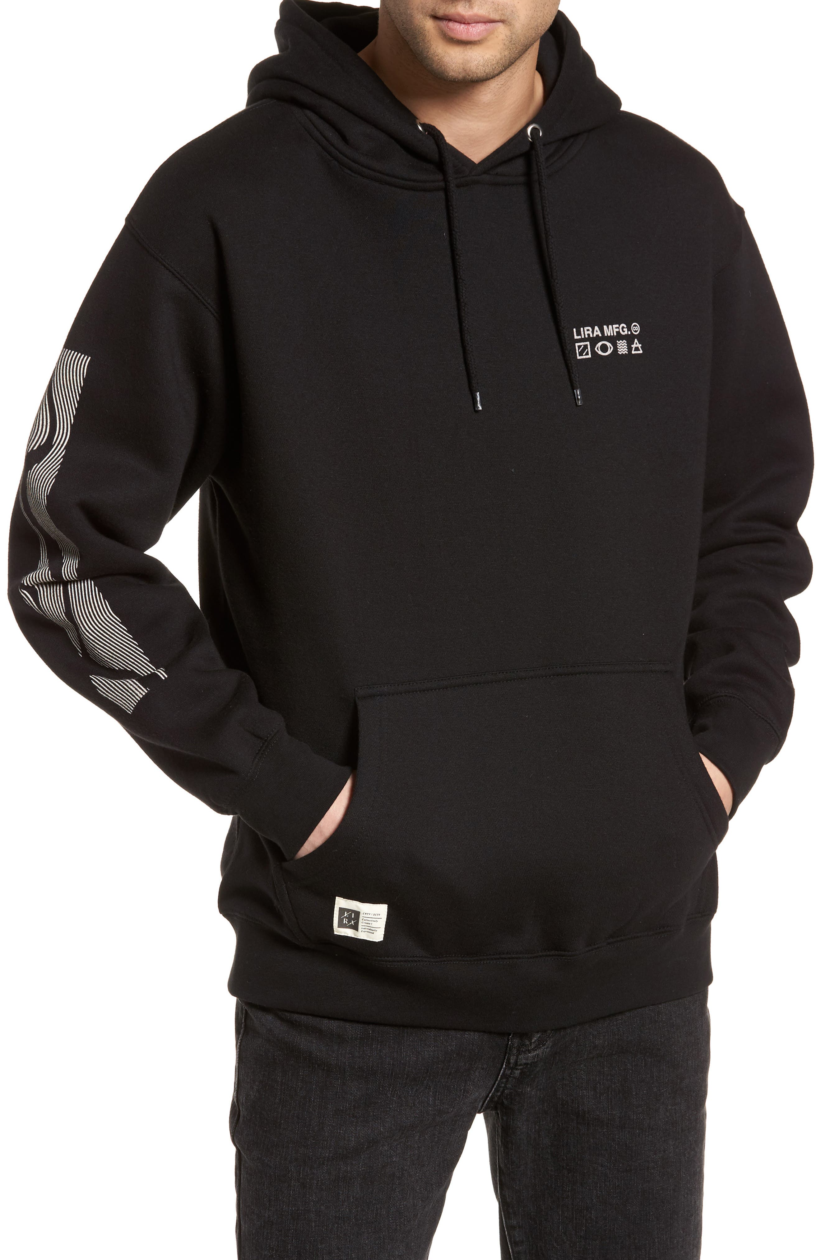 Coil Graphic Hoodie,                         Main,                         color, Black