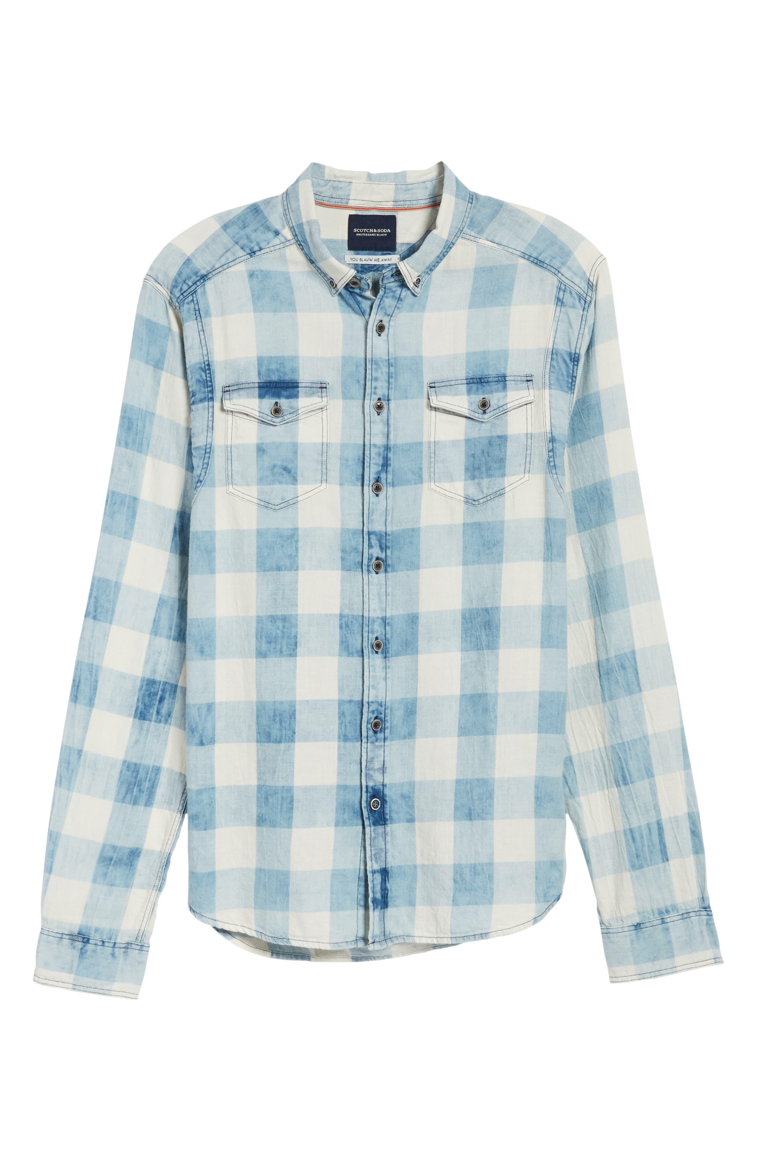Amsterdams Blauw Check Shirt,                             Alternate thumbnail 6, color,                             Combo A