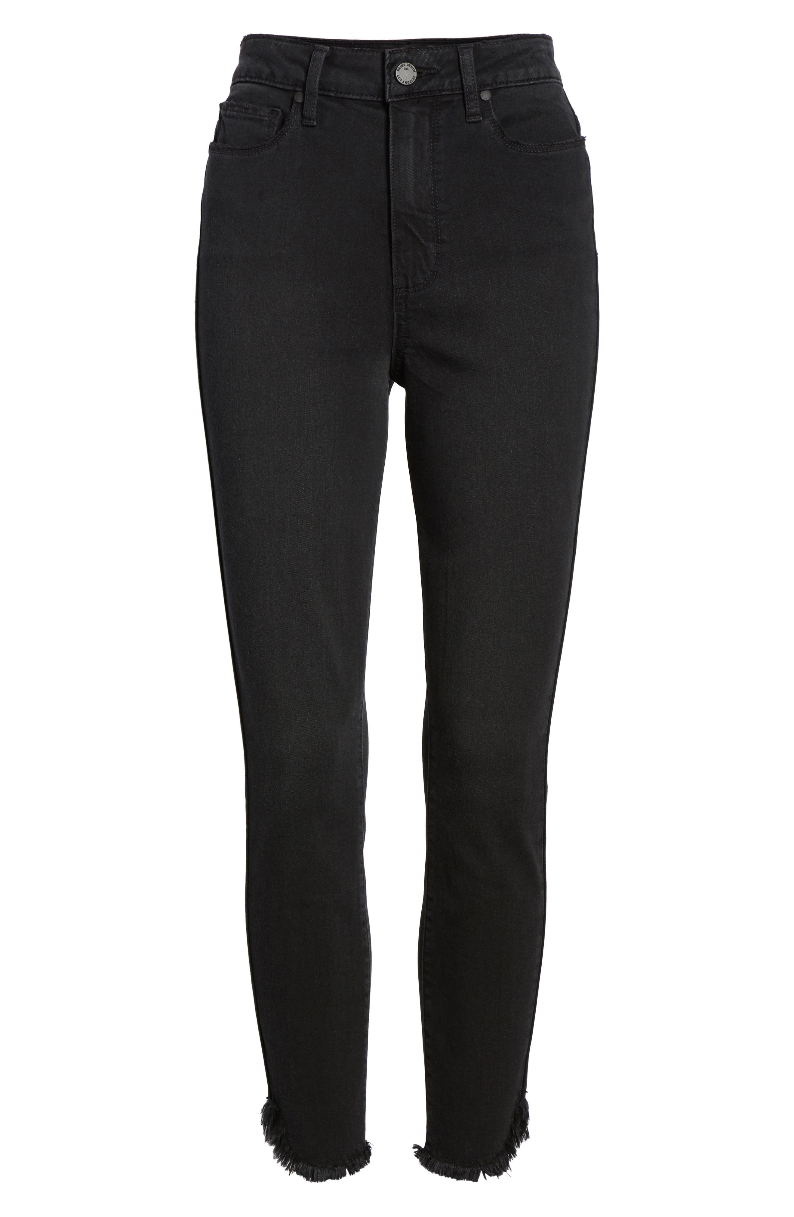 Transcend - Margot High Waist Crop Ultra Skinny Jeans,                             Alternate thumbnail 7, color,                             Draco