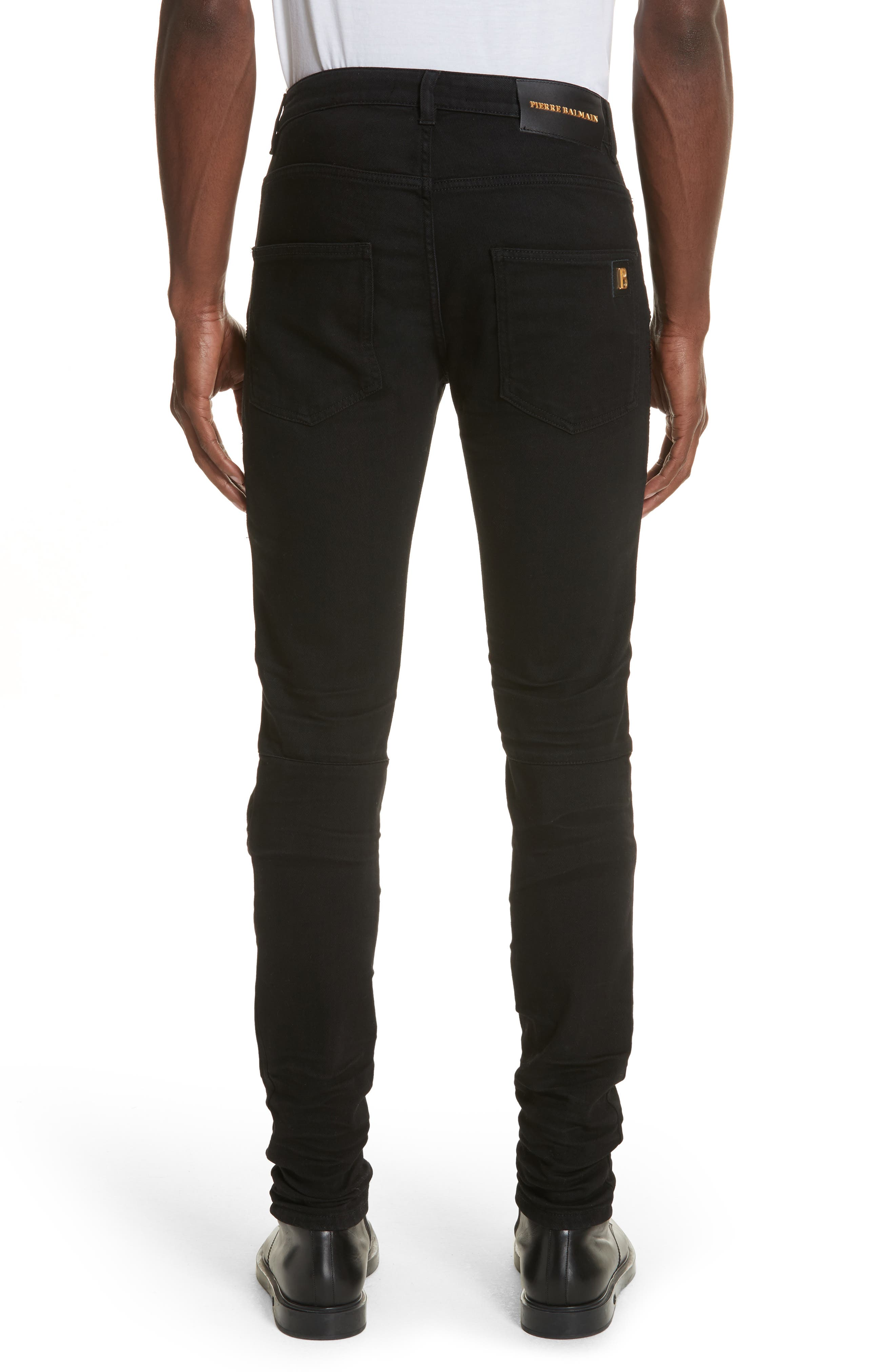 Moto Jeans,                             Alternate thumbnail 2, color,                             Black Denim