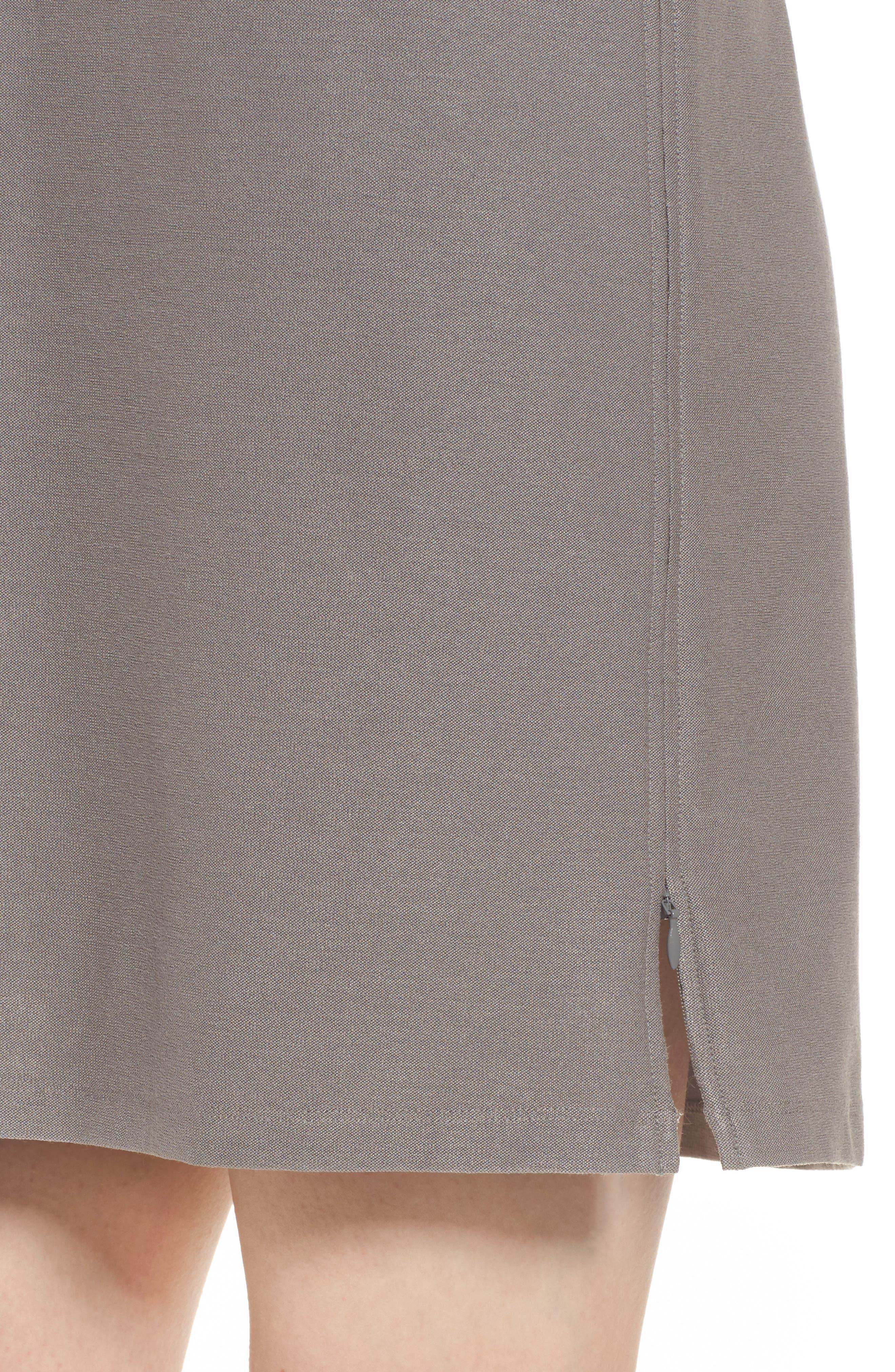 Stretch Knit Shift Dress,                             Alternate thumbnail 4, color,                             Smoke