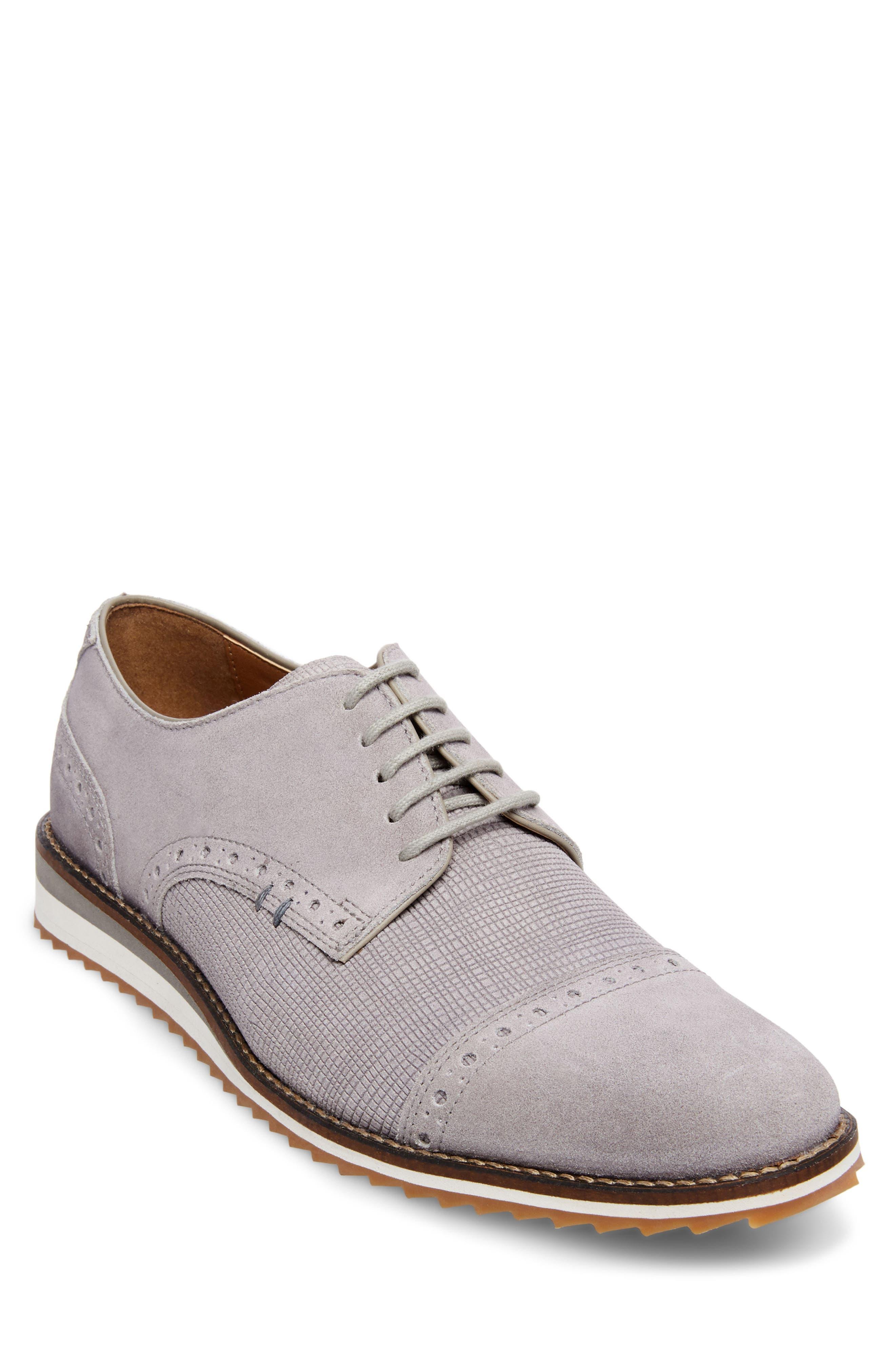 Flyte Cap Toe Derby,                         Main,                         color, Grey