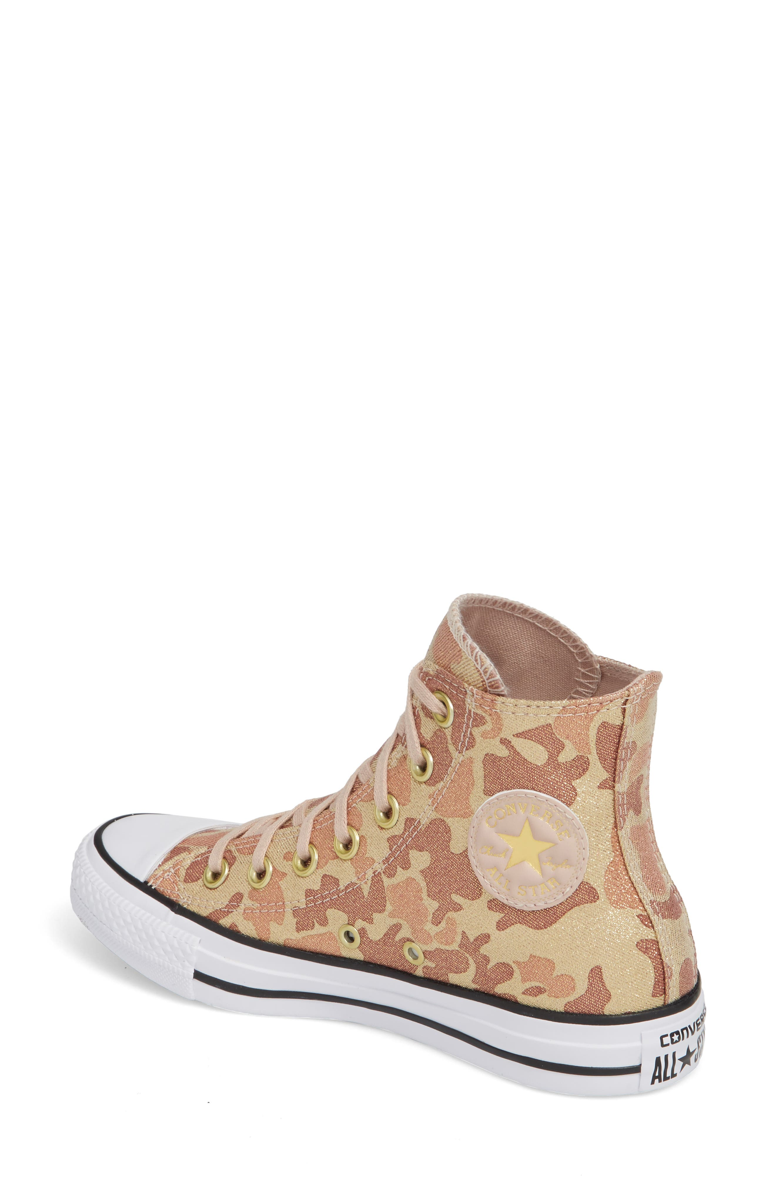 Chuck Taylor<sup>®</sup> All Star<sup>®</sup> High Top Sneaker,                             Alternate thumbnail 2, color,                             Particle Beige