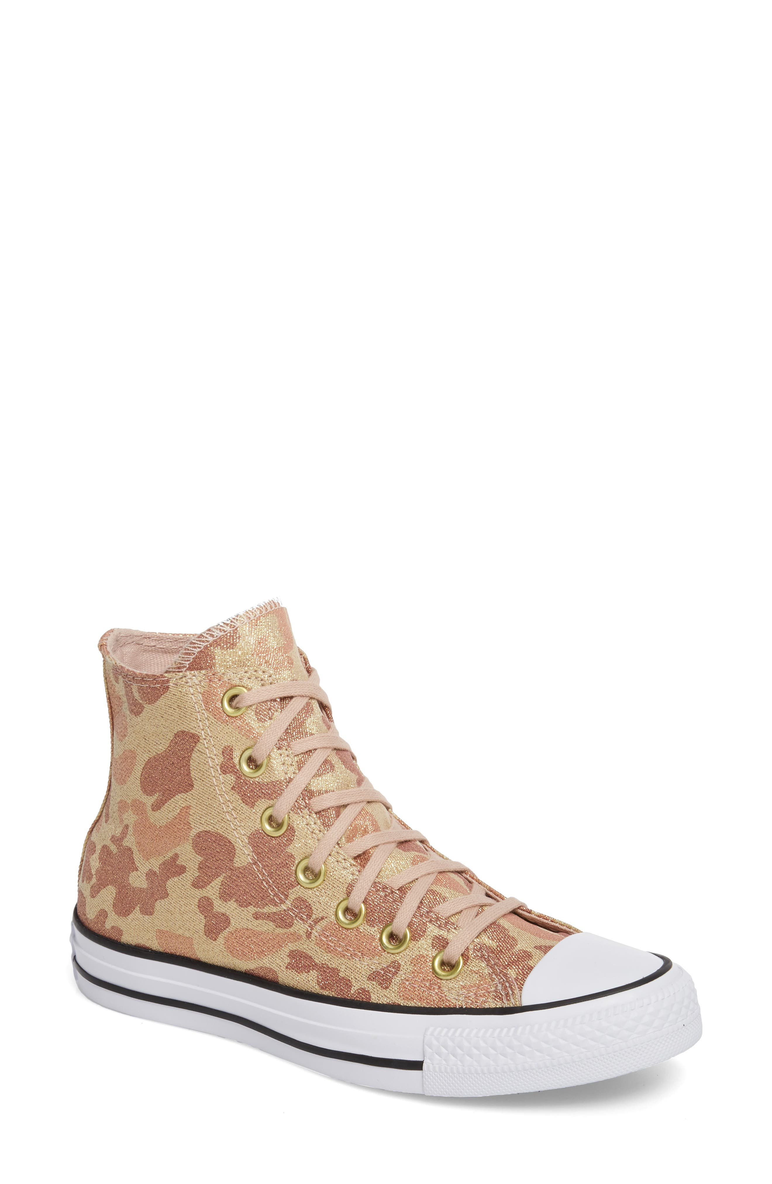 Chuck Taylor<sup>®</sup> All Star<sup>®</sup> High Top Sneaker,                             Main thumbnail 1, color,                             Particle Beige