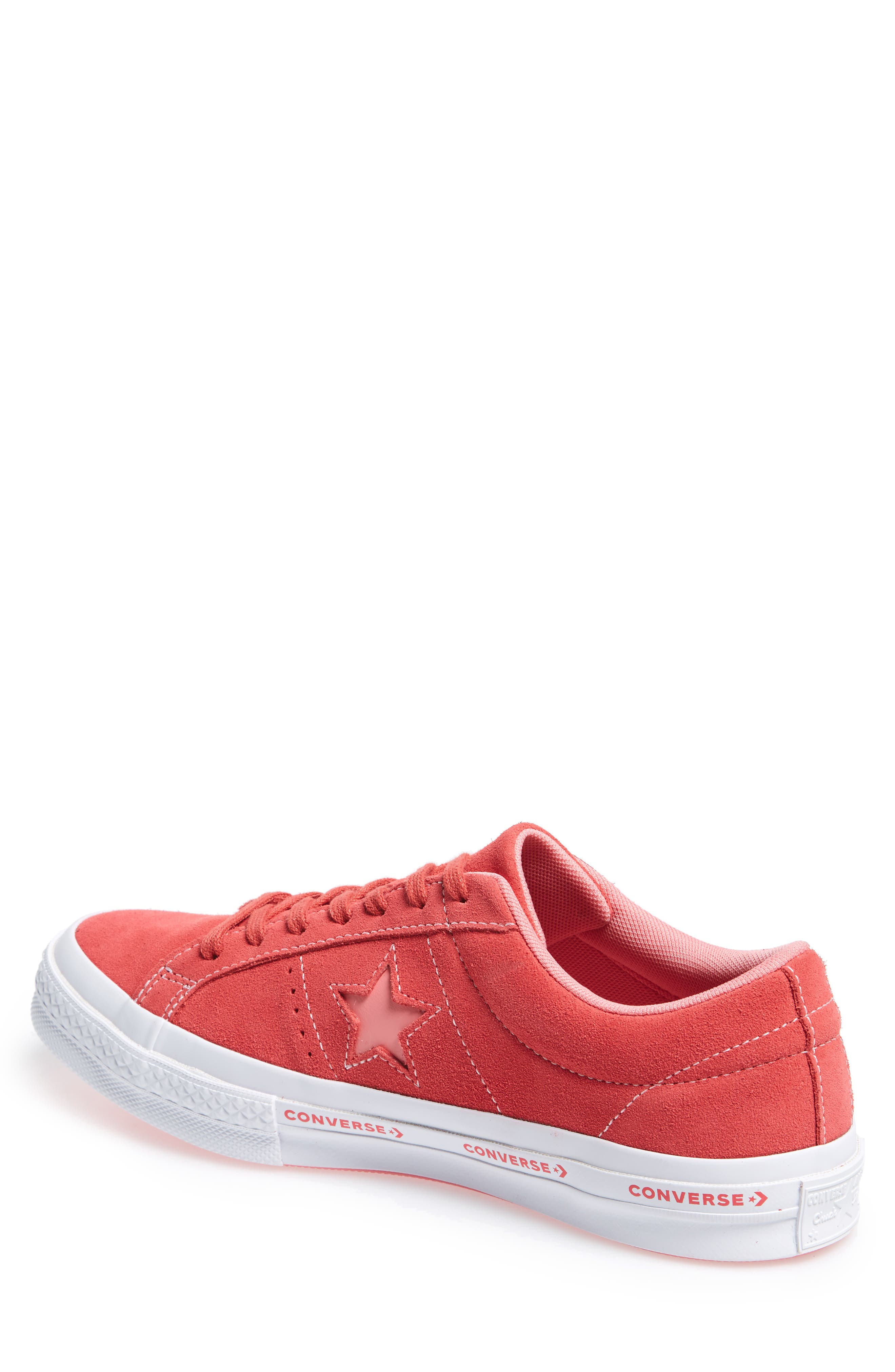 Chuck Taylor<sup>®</sup> One Star Pinstripe Sneaker,                             Alternate thumbnail 2, color,                             Paradise Pink Suede