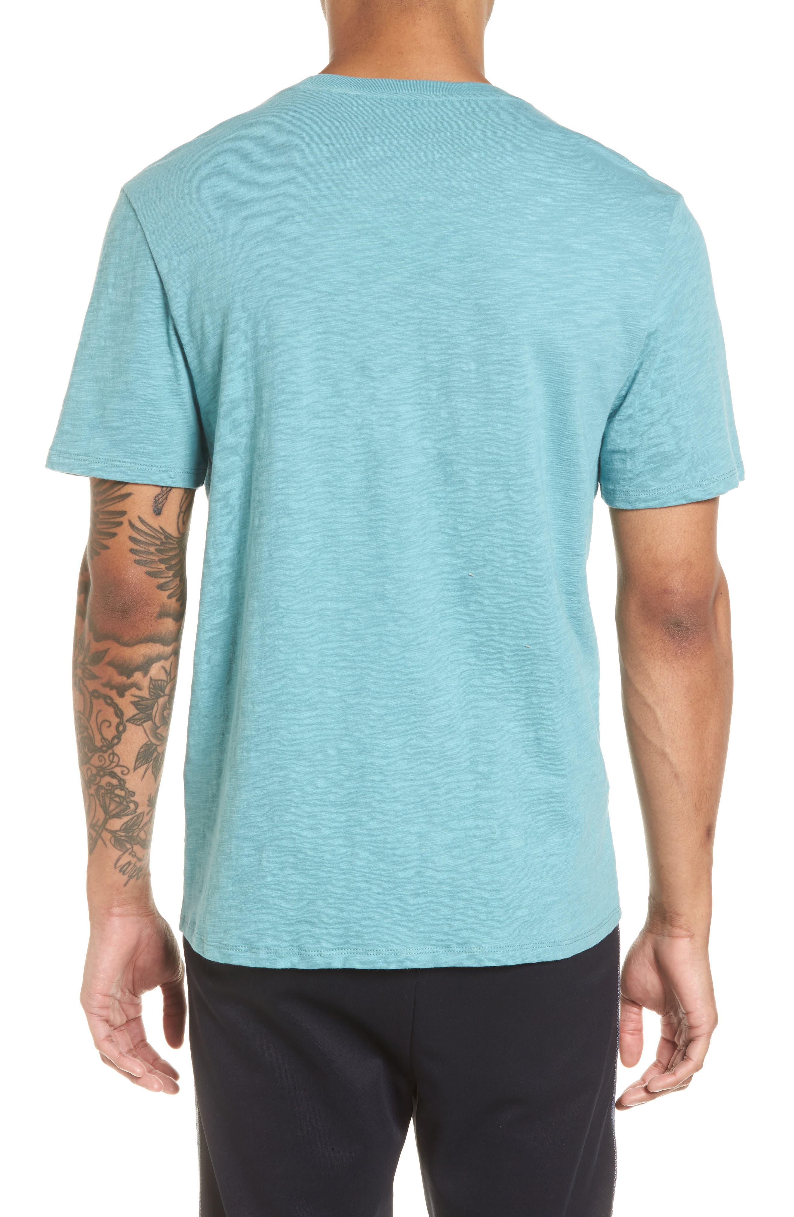 Slim Fit Slub Cotton T-Shirt,                             Alternate thumbnail 2, color,                             Harbor