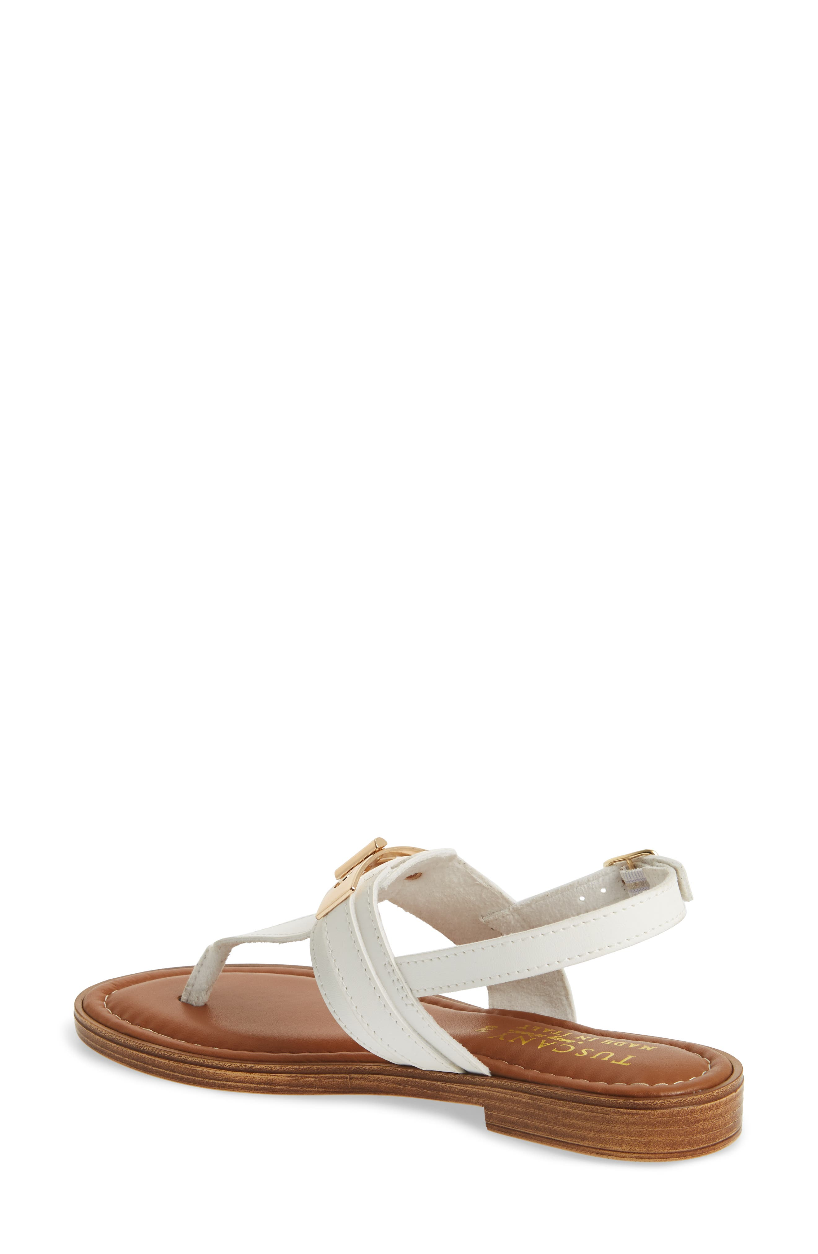 by Easy Street<sup>®</sup> Clariss Sandal,                             Alternate thumbnail 2, color,                             White Faux Leather